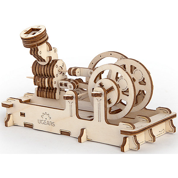 Пневматический двигатель, UGEARSДеревянные модели<br>Когда-то было время больших паровых машин, которые всех  приводили в изумление своей невиданной силой и шумной работой.<br>Пневматический двигатель UGEARS небольшой, но точный аналог паровых машин. Чтобы он заработал достаточно подуть в специальный раструб или же запустить двигатель от обычного воздушного шарика.  Необычно то, что модель выполнена полностью из древесных материалов. Конструкция имеет воздушный тахометр и два пенала для мелочей. <br>Модель для самостоятельной сборки без клея.<br><br>Размер модели: 162*78*100мм<br>Размер упаковки: 37*14*3см<br>Количество деталей: 81<br>Расчетное время сборки: 2-3 часа<br><br>Ширина мм: 377<br>Глубина мм: 139<br>Высота мм: 32<br>Вес г: 322<br>Возраст от месяцев: 168<br>Возраст до месяцев: 216<br>Пол: Мужской<br>Возраст: Детский<br>SKU: 5226403