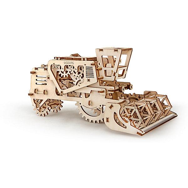 Комбайн, UGEARSДеревянные конструкторы<br>Зерноуборочный комбайн UGEARS это модель, которая порадует разнообразной механикой. При движении комбайна, спереди, как и в реальном прототипе вращается мотовило. Модель имеет встроенную секретную  коробочку. Она открывается рычагом, который находится слева от кабины. Комбайн заводится простым движением назад или вращением большого колеса.  С другой стороны от кабины есть рычаг, которым можно застопорить или запустить комбайн. Работает комбайн на резиномоторе.<br>Модель для самостоятельной сборки без клея.<br><br>Размер модели: 274*165*133мм<br>Размер упаковки: 37*17*3см<br>Количество деталей: 154<br>Расчетное время сборки: 2-3 часа<br>Ширина мм: 375; Глубина мм: 170; Высота мм: 30; Вес г: 681; Возраст от месяцев: 168; Возраст до месяцев: 192; Пол: Унисекс; Возраст: Детский; SKU: 5226404;