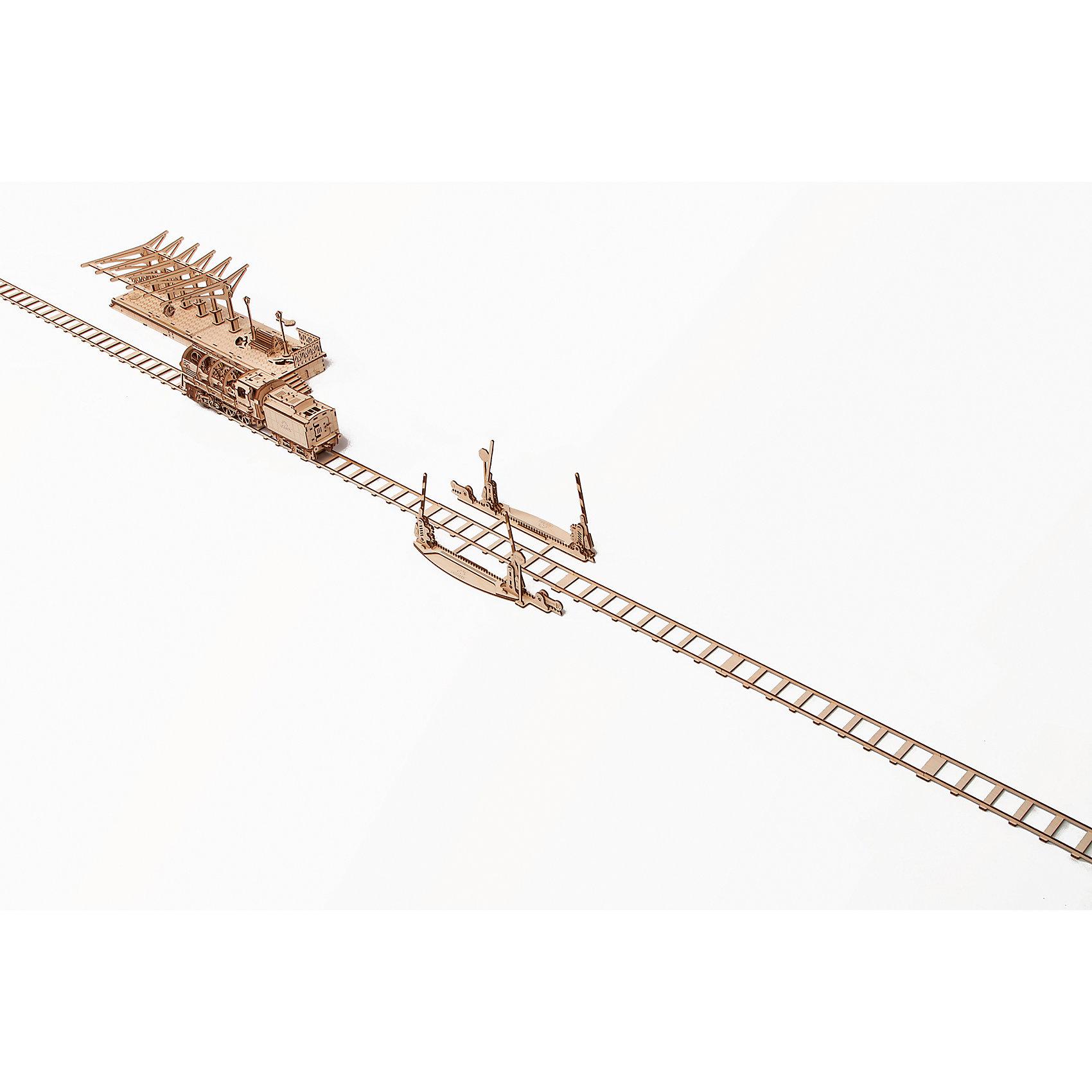 Переезд, UGEARSДеревянные конструкторы<br>Там, где есть железная дорога, есть и железнодорожный переезд. Вы получите 4 метра железной дороги в комплекте с переездом и работающими шлагбаумами, которые поднимаются и опускаются нажатием рычага.<br>Модель для самостоятельной сборки без клея.<br><br>Размер модели: 4070*120*225 мм<br>Размер упаковки: 37*14*3см<br>Количество деталей: 200<br>Расчетное время сборки: 2-3 часа<br><br>Ширина мм: 375<br>Глубина мм: 170<br>Высота мм: 30<br>Вес г: 682<br>Возраст от месяцев: 168<br>Возраст до месяцев: 192<br>Пол: Унисекс<br>Возраст: Детский<br>SKU: 5226408