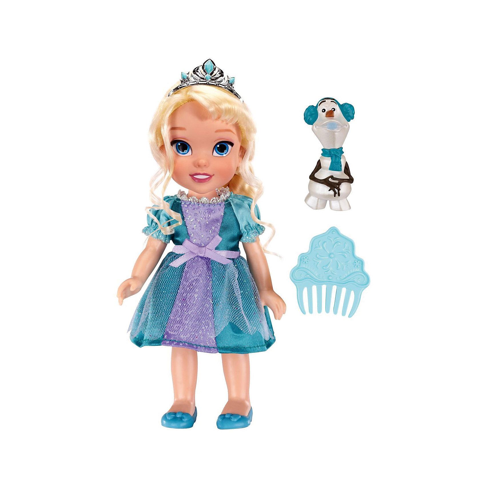 Кукла-малышка Холодное Сердце со снеговиком - Эльза, 15 смПринцессы Дисней<br>Характеристики товара:<br><br>• высота : 15 см<br>• размер упаковки: 14х7х20 см<br>• материал: пластик<br>• отличная детализация<br>• возраст: от трех лет<br>• комплектация: кукла, снеговик, гребень<br>• волосы куклы можно расчесывать<br><br>Игрушка в виде любимого героя - желанный подарок для малыша! Такая кукла сделана в виде маленькой принцессы из мультфильма Холодное сердце - а их современные девочки просто обожают. Кукла очень качественно выполнена, благодаря наличию в наборе её друга - снеговика Олафа - с ней можно придумать множество игр!<br>Игра с куклами помогает девочкам развивать важные социальные навыки и способности, она активизирует мышление, формирует умение заботиться о других, логику, мелкую моторику и воображение, помогает проработать сценарии взаимодействия с людьми. Изделие производится из качественных сертифицированных материалов, безопасных даже для самых маленьких.<br><br>Куклу Эльза с Олафом, 15 см, Холодное сердце, можно купить в нашем интернет-магазине.<br><br>Ширина мм: 140<br>Глубина мм: 195<br>Высота мм: 65<br>Вес г: 215<br>Возраст от месяцев: 36<br>Возраст до месяцев: 2147483647<br>Пол: Женский<br>Возраст: Детский<br>SKU: 5227285