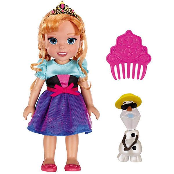 Кукла-малышка Холодное Сердце со снеговиком - Анна, 15 смКуклы<br>Характеристики товара:<br><br>• высота: 15 см<br>• размер упаковки: 14х7х20 см<br>• материал: пластик<br>• отличная детализация<br>• возраст: от трех лет<br>• комплектация: кукла, снеговик, гребень<br>• волосы куклы можно расчесывать<br><br>Игрушка в виде любимого героя - желанный подарок для малыша! Такая кукла сделана в виде маленькой принцессы из мультфильма Холодное сердце - а их современные девочки просто обожают. Кукла очень качественно выполнена, благодаря наличию в наборе её друга - снеговика Олафа - с ней можно придумать множество игр!<br>Игра с куклами помогает девочкам развивать важные социальные навыки и способности, она активизирует мышление, формирует умение заботиться о других, логику, мелкую моторику и воображение, помогает проработать сценарии взаимодействия с людьми. Изделие производится из качественных сертифицированных материалов, безопасных даже для самых маленьких.<br><br>Куклу Анна с Олафом, 15 см, Холодное сердце, можно купить в нашем интернет-магазине.<br>Ширина мм: 140; Глубина мм: 195; Высота мм: 65; Вес г: 215; Возраст от месяцев: 36; Возраст до месяцев: 2147483647; Пол: Женский; Возраст: Детский; SKU: 5227286;