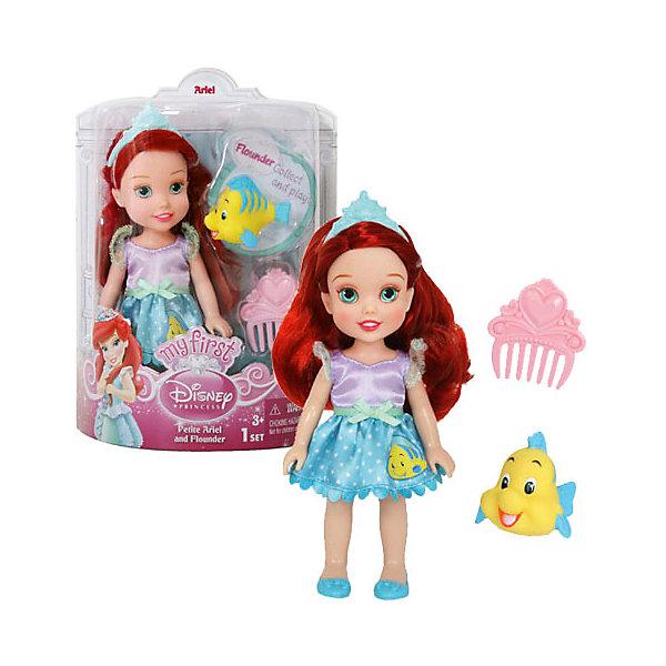 Мини-кукла Принцесса Диснея малышка - Ариэль, 7.5 смКуклы<br>Характеристики товара:<br><br>• высота : 7,5 см<br>• размер упаковки: 11,5х5х4,5 см<br>• материал: пластик<br>• отличная детализация<br>• возраст: от трех лет<br>• комплектация: 1 кукла<br>• подвижные части тела: голова, руки и ноги<br><br>Игрушка в виде любимого героя - желанный подарок для малыша! Такая кукла сделана в виде маленькой принцессы из мультфильма Диснея - а их современные девочки просто обожают. Кукла очень качественно выполнена, благодаря подвижным деталям с ней можно придумать множество игр! Из таких кукол получится отличная коллекция!<br>Игра с куклами помогает девочкам развивать важные социальные навыки и способности, она активизирует мышление, формирует умение заботиться о других, логику, мелкую моторику и воображение, помогает проработать сценарии взаимодействия с людьми. Изделие производится из качественных сертифицированных материалов, безопасных даже для самых маленьких.<br><br>Куклу Ариэль, 7,5 см, Принцессы Дисней, можно купить в нашем интернет-магазине.<br>Ширина мм: 50; Глубина мм: 110; Высота мм: 55; Вес г: 68; Возраст от месяцев: 36; Возраст до месяцев: 2147483647; Пол: Женский; Возраст: Детский; SKU: 5227287;