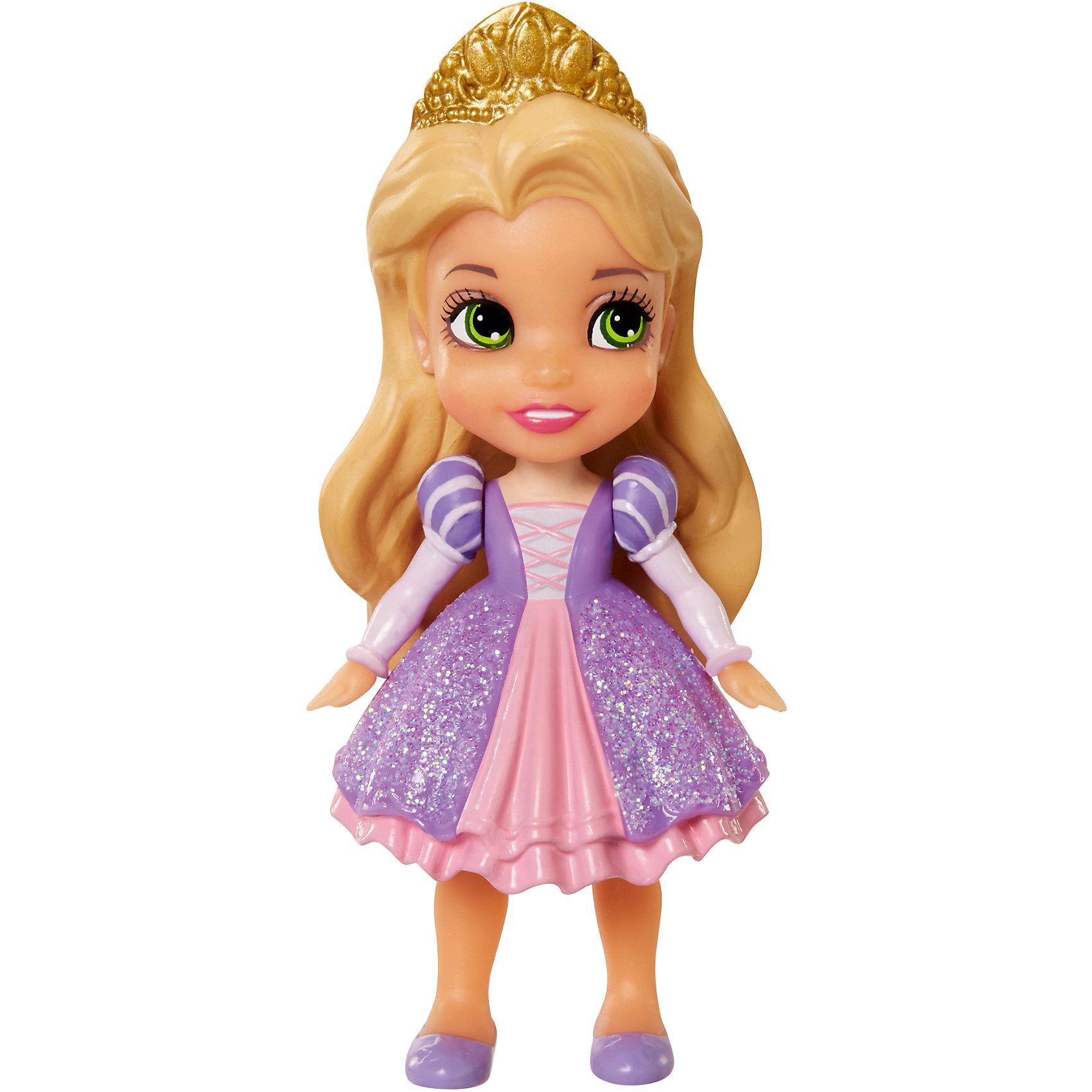- Кукла Рапунцель, 7,5 см, Принцессы Дисней hasbro модная кукла принцесса в юбке с проявляющимся принтом принцессы дисней b5295 b5299