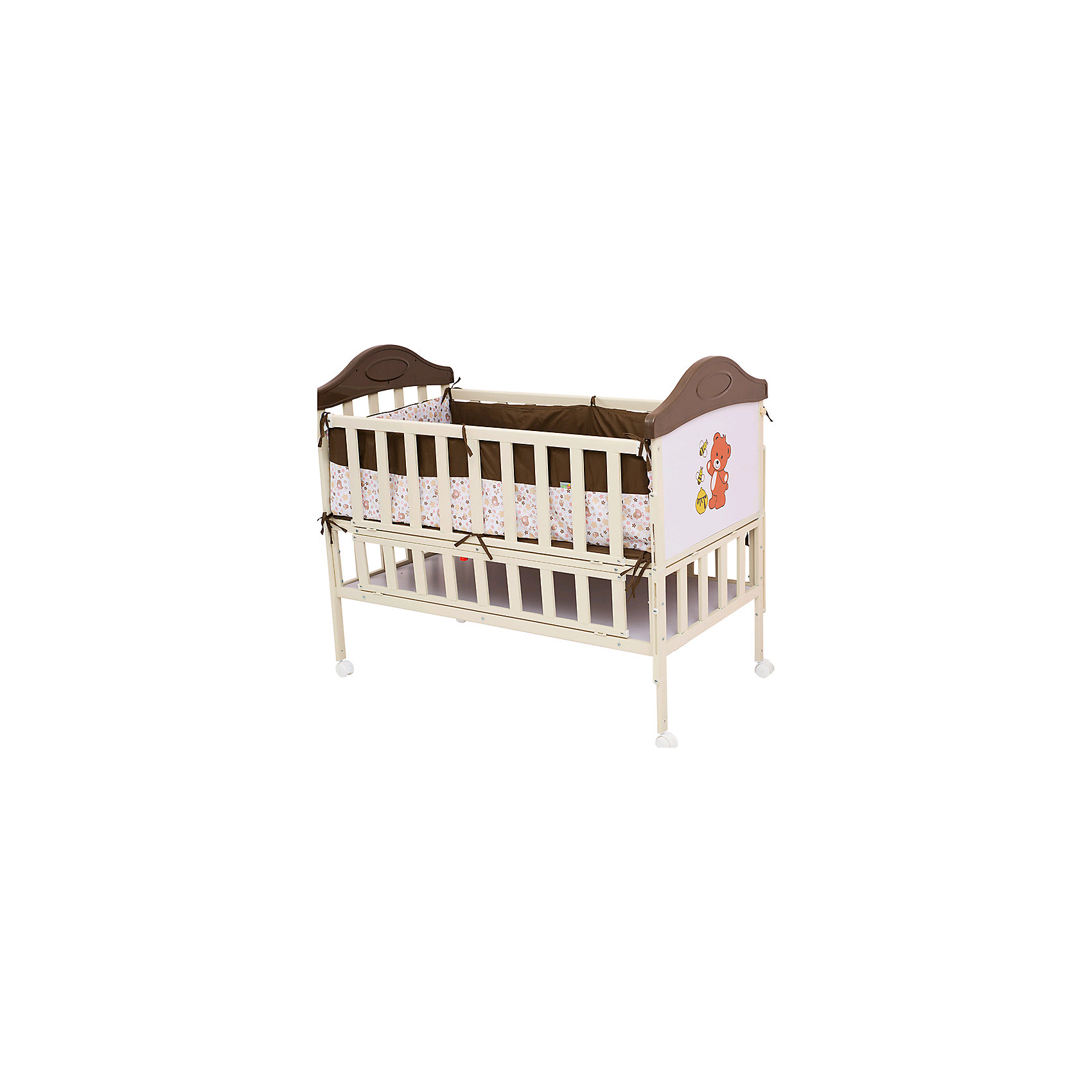 Металлическая кроватка SLEEPY, Babyhit, кофейныйКроватки<br>Металлическая кровать Babyhit Sleepy<br>Кроватка выполнена «под крашенное дерево». Профиль прямоугольного сечения<br>Размер спального места 120 х 60 см.<br>Откидной торцевой борт (увеличение длины спального места)<br>Откидной боковой борт (для размещения рядом с кроватью мамы)<br>Отсек для хранения<br>4 колеса со стопорами<br>В комплекте: мягкие бортики, москитная сетка – балдахин<br><br>Ширина мм: 1230<br>Глубина мм: 150<br>Высота мм: 720<br>Вес г: 26000<br>Возраст от месяцев: 0<br>Возраст до месяцев: 84<br>Пол: Унисекс<br>Возраст: Детский<br>SKU: 5227601