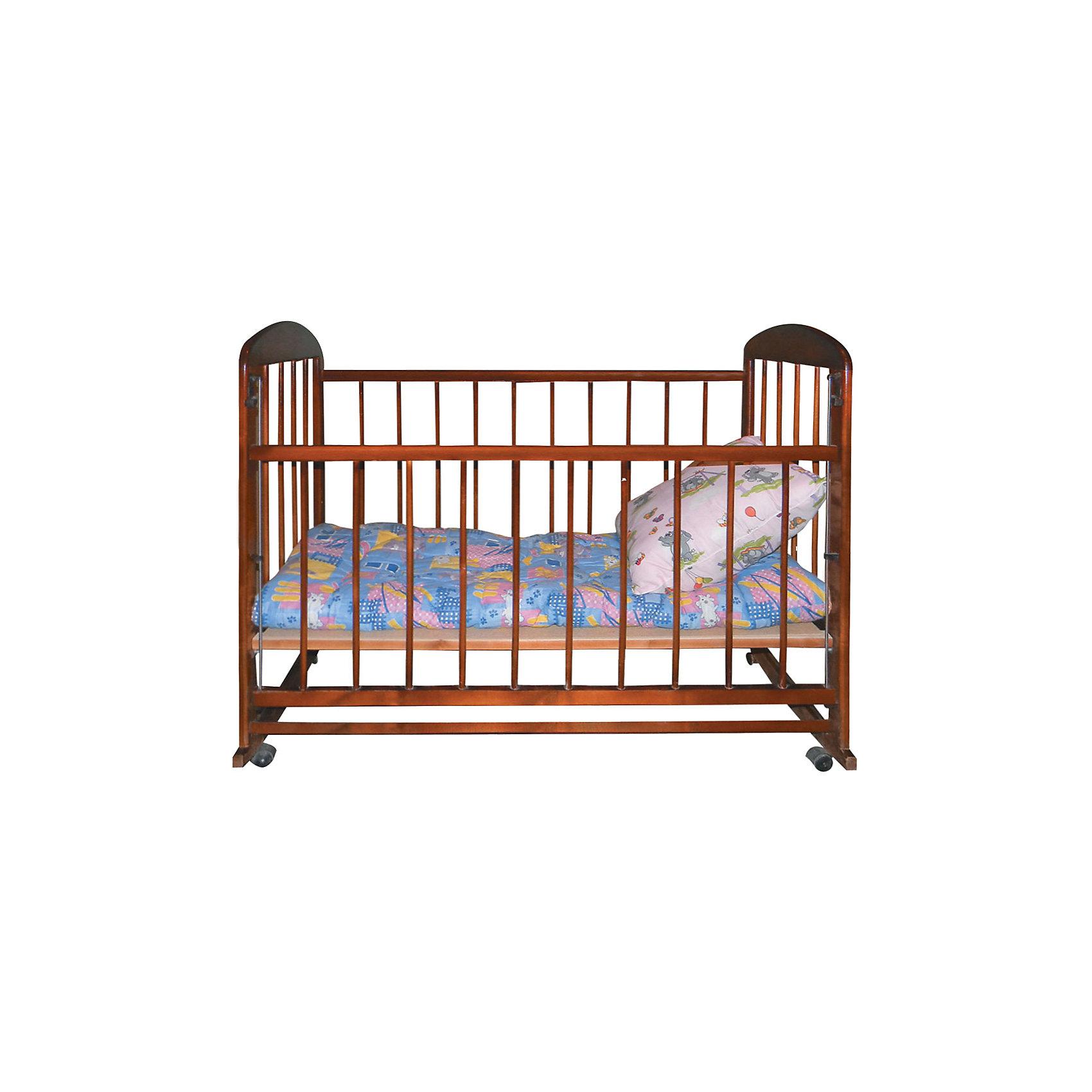 - Кроватка-качалка Мишутка 12, тёмная обычная кроватка уренская мебельная фабрика мишутка 12 темная