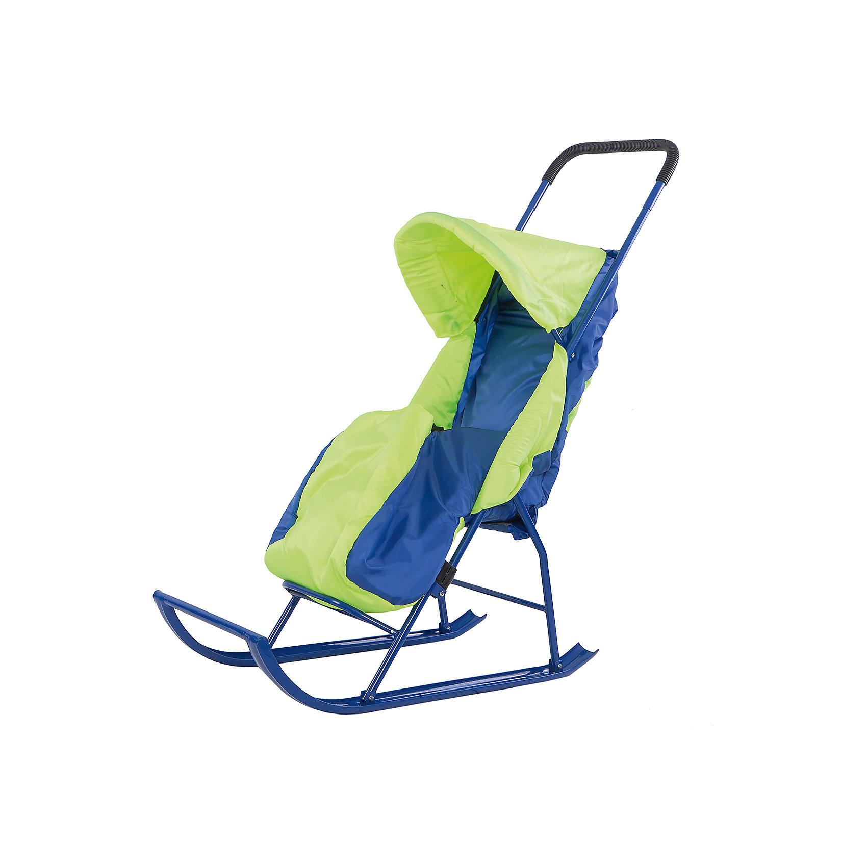Малышок Санки-коляска Малышок 1, Galaxy, салатовый/голубой санки galaxy мишутка 1 универсал красные