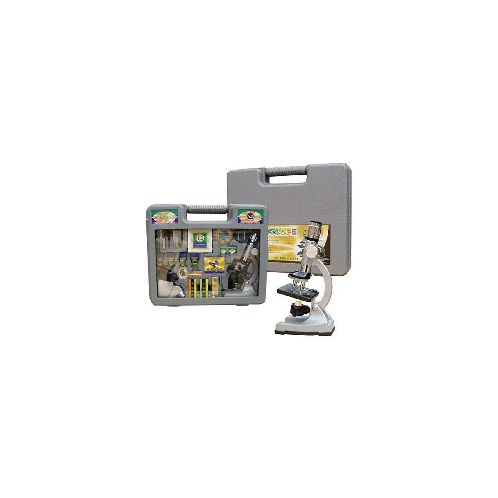 Набор с микроскопом Юный ученый (60 предметов)Характеристики товара:<br><br>• цвет: серый<br>• материал: металл, пластик, стекло<br>• размер упаковки: 42х34х10 см<br>• комплектация: 60 предметов (три объектива, прожектор, светофильтры и др.)<br>• упаковка:чемоданчик<br>• вес: 2300 г<br>• работает от батареек<br>• возраст: от пяти лет<br><br>Такой набор поможет привить ребенку любовь к знаниям и сделать учебу легче. Работа с микроскопом даст возможность ребенку получить представление о строении многих предметов. В комплекте идет микроскоп и предметы для подготовки объектов к изучению. Также в наборе есть объективы различной мощности сфетофильтры.<br>Изделие произведено из качественных и безопасных для ребенка материалов. Работа с таким набором помогает развить мышление ребенка, аккуратность, внимательность, мелкую моторику и воображение. Полезный и развивающий подарок!<br><br>Набор с микроскопом Юный ученый (60 предметов) можно купить в нашем интернет-магазине.<br><br>Ширина мм: 420<br>Глубина мм: 340<br>Высота мм: 100<br>Вес г: 2300<br>Возраст от месяцев: 60<br>Возраст до месяцев: 144<br>Пол: Унисекс<br>Возраст: Детский<br>SKU: 5230497