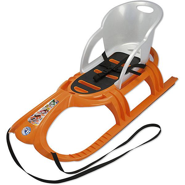Санки детские Snow Tiger Comfort со спинкой, оранжевые, KHWСанки и аксессуары<br>Санки детские Snow Tiger Comfort со спинкой, оранжевые, KHW<br><br>Характеристики:<br><br>• Размер: 105х56,5х20 см<br>• Материал: пластик, металл<br>• Максимальная нагрузка: 80 кг<br>• Вес: 3,5 кг<br>• Цвет: оранжевый.<br><br>Какая же зима без катания на санках? С такими санками, как Snow Tiger , от известного немецкого бренда KHW, эта зимняя забава доставит массу удовольствий вашему ребенку. Модель выполнена из прочного легкого пластика. Морозоустойчивость - 20 градусов. Широкие полозья из нержавеющей стали обеспечивают высокую скорость и гладкое скольжение по снегу и снежным склонам. Сиденье может выдержать вес взрослого человека. Стильный, лаконичным дизайн отличает эту модель. Яркий оранжевый цвет привлечет внимание вашего ребенка. Противоскользящее покрытие сиденья делает их использование безопасным. Спинка выполнена из серого пластика. Такие санки подходят для детей дошкольного возраста.<br> <br>Санки детские Snow Tiger Comfort со спинкой, оранжевые, KHW, можно купить в нашем интернет – магазине.<br><br>Ширина мм: 1040<br>Глубина мм: 470<br>Высота мм: 540<br>Вес г: 5050<br>Возраст от месяцев: 24<br>Возраст до месяцев: 2147483647<br>Пол: Унисекс<br>Возраст: Детский<br>SKU: 5231065