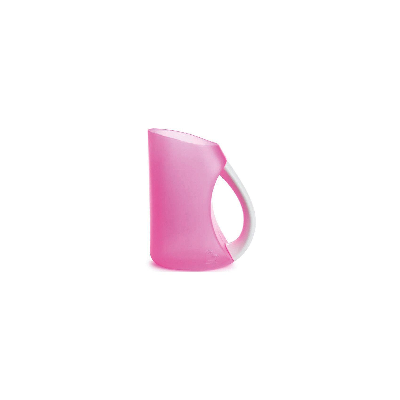 munchkin Мягкий кувшин для мытья волос, munchkin, розовый детский ковшик munchkin мягкий кувшин для мытья волос от 6 мес розовый