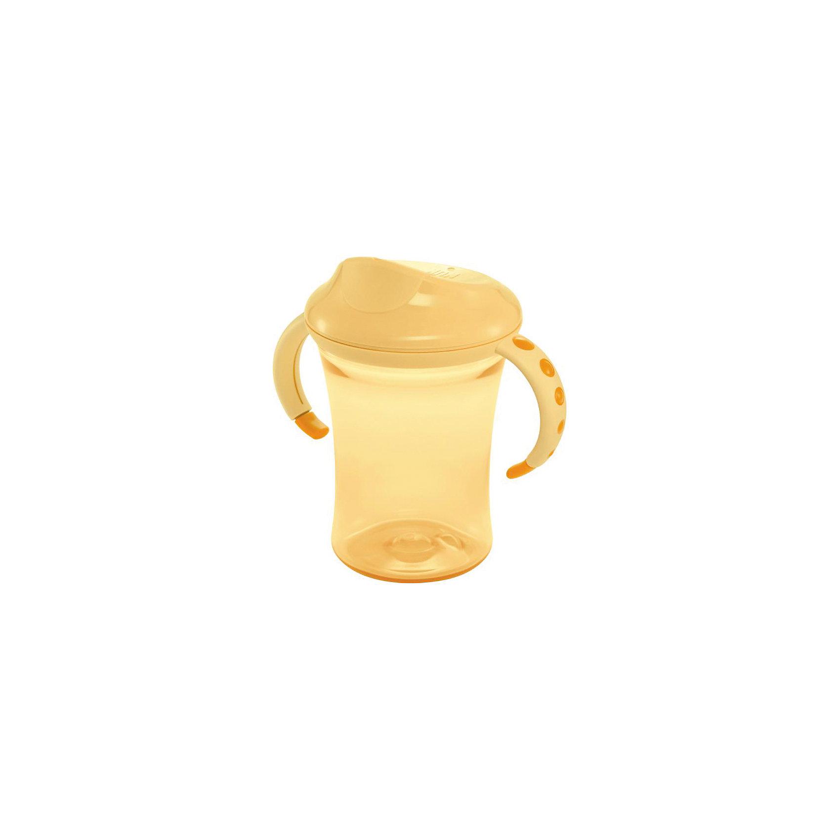 Поильник 2 с насадкой и ручками Easy Learning 275 мл. с 10 мес., NUK, желтыйПоильники<br>Поильник 2 с пластиковой насадкой и ручками Easy Learning 275 мл. с 10 мес. от немецкого производителя высококачественных товаров для новорожденных NUK (Нук). Эта оригинальная бутылочка с насадкой-носиком для питья поможет перейти от бутылочек к самостоятельному питью. Специальный пищевой пластик сочетает в себе безопасность и прочность, благодаря дополнительной устойчивости. Пластиковая насадка не позволит жидкости вылиться из бутылочки. Красивый дизайн понравится малышу, а специальные не скользящие ручки поильника будут удобна для детских ручек. Превосходное качество и безопасность для вашего малыша.<br><br><br>Дополнительная информация:<br><br>- Материал: пластик<br>- Объем: 275 мл. <br><br>Поильник 2 с пластиковой насадкой и ручками Easy Learning 275 мл. с 10 мес., NUK (Нук) можно купить в нашем интернет-магазине.<br>Подробнее:<br>• Для детей в возрасте: от 10 месяцев<br>• Номер товара: 4998413<br>Страна производитель: Германия<br><br>Ширина мм: 70<br>Глубина мм: 50<br>Высота мм: 70<br>Вес г: 100<br>Возраст от месяцев: 10<br>Возраст до месяцев: 36<br>Пол: Унисекс<br>Возраст: Детский<br>SKU: 5237157