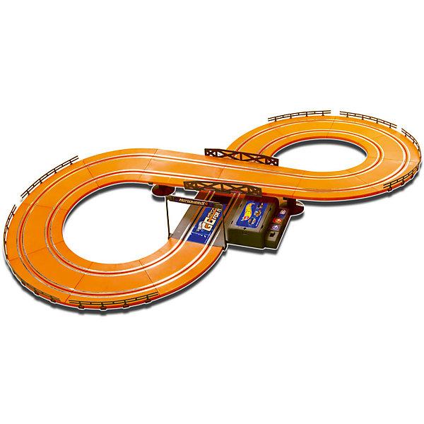 Гоночный трек Hot Wheels 286 см, на батарейках, KidzTechАвтотреки<br>Гоночный трек Hot Wheels 286 см, на батарейках, KidzTech (КидзТех).<br><br>Характеристики:<br><br>- В комплекте: 2 машинки со светящимися фарами, детали трека (39 шт.), 2 проводных пульта управления с функцией ускорения<br>- Уровень сложности: для начинающих<br>- Батарейки: 6 x АА (не входят в комплект)<br>- Длина трека: 286 см.<br>- Материал: пластик, металл<br><br>Гоночный трек Hot Wheels от KidzTech (КидзТех) является начальным уровнем, предназначенным для тех, кто только начал увлекаться гонками. Трек представляет собой замкнутую двухуровневую автостраду в форме восьмерки. Старт, он же финиш, обозначен аркой. В набор включены два проводных пульта управления и две машинки. Пульты оснащены специальной кнопкой, которая позволит машинкам ускоряться. Во время движения у автомобилей светятся фары.<br><br>Гоночный трек Hot Wheels 286 см, на батарейках, KidzTech (КидзТех) можно купить в нашем интернет-магазине.<br>Ширина мм: 72; Глубина мм: 521; Высота мм: 389; Вес г: 1730; Возраст от месяцев: 60; Возраст до месяцев: 2147483647; Пол: Мужской; Возраст: Детский; SKU: 5237834;