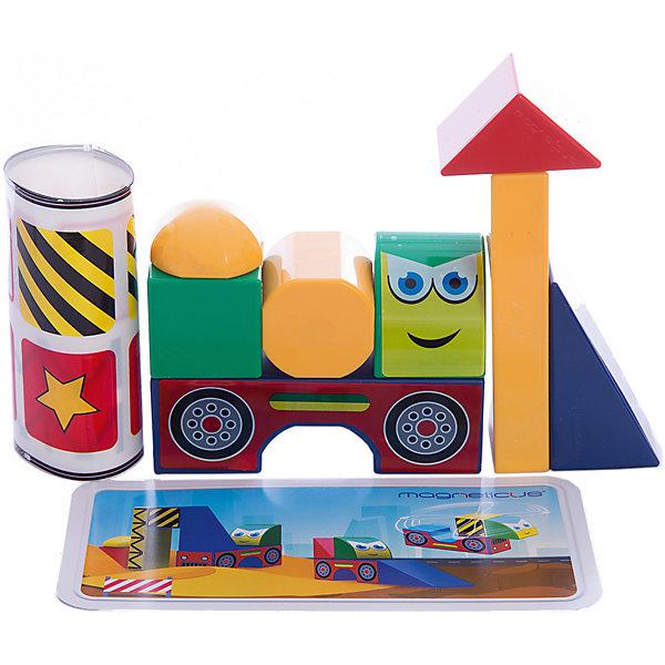 Магнитные кубики СтройкаРазвивающие игрушки<br>Характеристики:<br><br>• количество кубиков в наборе Magneticus: 8 шт.;<br>• магниты встроены в грани кубиков;<br>• материал: металл, полимерное покрытие, наклейки;<br>• размер упаковки: 23х24х5 см;<br>• вес: 360 г.<br><br>Магнитные кубики помогают развить моторику рук, цветовосприятие и фантазию. Кубики представлены в 4-х цветах. Из 8 кубиков можно построить объемные модели: вертолет, экскаватор, бетономешалку, бульдозер. В грани кубиков встроены магниты, поэтому собранные фигуры не рассыпаются во время игры. <br><br>Магнитные кубики Стройка можно купить в нашем магазине.<br><br>Ширина мм: 235<br>Глубина мм: 50<br>Высота мм: 240<br>Вес г: 350<br>Возраст от месяцев: 36<br>Возраст до месяцев: 84<br>Пол: Унисекс<br>Возраст: Детский<br>SKU: 5238558