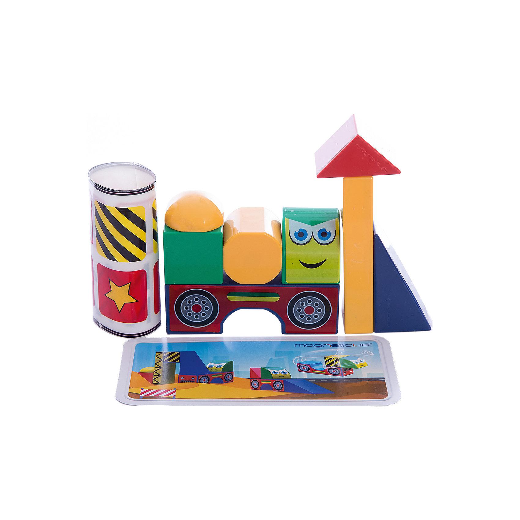 Магнитные кубики СтройкаХарактеристики:<br><br>• количество кубиков в наборе Magneticus: 8 шт.;<br>• магниты встроены в грани кубиков;<br>• материал: металл, полимерное покрытие, наклейки;<br>• размер упаковки: 23х24х5 см;<br>• вес: 360 г.<br><br>Магнитные кубики помогают развить моторику рук, цветовосприятие и фантазию. Кубики представлены в 4-х цветах. Из 8 кубиков можно построить объемные модели: вертолет, экскаватор, бетономешалку, бульдозер. В грани кубиков встроены магниты, поэтому собранные фигуры не рассыпаются во время игры. <br><br>Магнитные кубики Стройка можно купить в нашем магазине.<br><br>Ширина мм: 235<br>Глубина мм: 50<br>Высота мм: 240<br>Вес г: 350<br>Возраст от месяцев: 36<br>Возраст до месяцев: 84<br>Пол: Унисекс<br>Возраст: Детский<br>SKU: 5238558