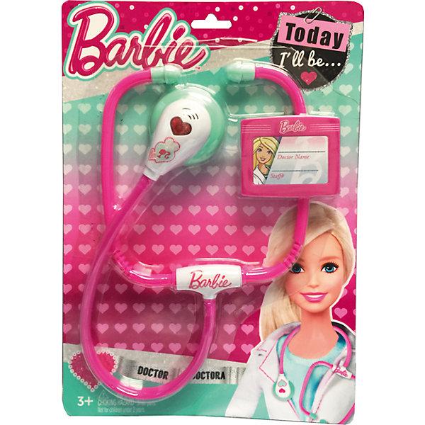 Игровой набор юного доктора на блистере, BarbieНаборы доктора и ветеринара<br>Игровой набор юного доктора на блистере, Barbie (Барби).<br><br>Характеристики:<br><br>• Материал: пластик. <br>• Размер упаковки: 30х21х1,5 см.<br>• Комплектация: стетоскоп, бейдж.<br>• Звуковые и световые эффекты. <br>• Отличная детализация. <br>• Элемент питания: 2 батарейки AG13 / LR44 (входят в комплект).<br>• Яркий привлекательный дизайн.<br><br>С этим ярким набором врача ваша девочка почувствует себя самым настоящим доктором. Все аксессуары отлично детализированы и хорошо проработаны, очень похожи на медицинские инструменты. Игрушки изготовлены из экологичного пластика, в производстве которого использованы только безопасные нетоксичные красители.<br><br>Игровой набор юного доктора на блистере, Barbie (Барби), можно купить в нашем интернет-магазине.<br><br>Ширина мм: 210<br>Глубина мм: 300<br>Высота мм: 400<br>Вес г: 138<br>Возраст от месяцев: 36<br>Возраст до месяцев: 2147483647<br>Пол: Женский<br>Возраст: Детский<br>SKU: 5238931