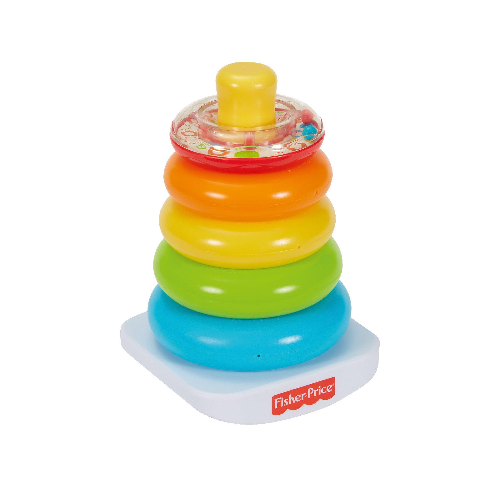 Пирамидка, Fisher PriceПирамидки<br>Пирамидка, Fisher Price (Фишер Прайс)<br><br>Характеристики:<br><br>• широкое основание<br>• верхнее колечко наполнено разноцветными шариками<br>• материал: пластик<br>• размер упаковки: 18х12х21 см<br>• вес: 439 грамм<br><br>Игра с пирамидкой помогает малышу развивать мелкую моторику и координацию движений. Пирамидка от Фишер Прайс состоит из пяти разноцветных конец и широкого основания. Верхнее кольцо прозрачное и заполнено разноцветными шариками. Малыш с радостью будет наблюдать за шариками и нанизывать яркие кольца на основу. Также вы можете помочь крохе выучить цвета с помощью пирамидки. Широкий стержень очень удобен в игре. Даже малыши смогут справиться с первой непростой задачей. Разноцветная пирамидка - надежный помощник в развитии крохи!<br><br>Пирамидку, Fisher Price (Фишер Прайс) вы можете купить в нашем интернет-магазине.<br><br>Ширина мм: 211<br>Глубина мм: 174<br>Высота мм: 130<br>Вес г: 314<br>Возраст от месяцев: 6<br>Возраст до месяцев: 36<br>Пол: Унисекс<br>Возраст: Детский<br>SKU: 5239615