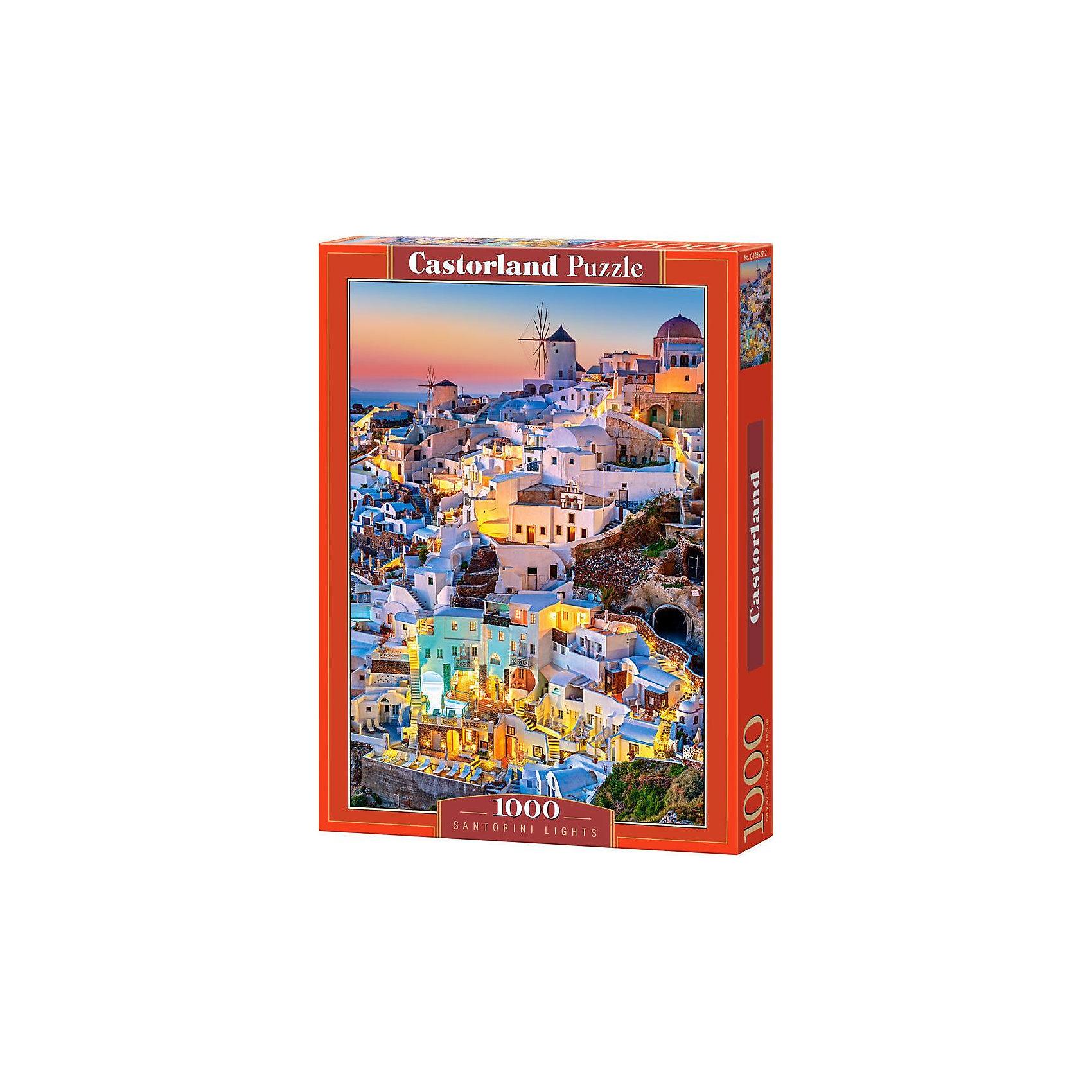 Пазл Огни Санторини, 1000 деталей, CastorlandПазлы для детей постарше<br>Пазл Огни Санторини, 1000 деталей, Castorland, (Касторленд)<br><br>Характеристики:<br><br>• яркие цвета<br>• привлекательная картинка<br>• количество деталей: 1000<br>• размер пазла: 68х47 см<br>• размер упаковки: 35х25х5 см<br><br>Огни Санторини - набор пазлов от Касторленд. Ребенок сможет собрать красивую картинку с изображением пейзажа Санторини. Игра поможет развить логику, мелкую моторику и пространственное мышление, а ребенок будет очень рад готовой картинке!<br><br>Пазл Огни Санторини, 1000 деталей, Castorland, (Касторленд) вы можете купить в нашем интернет-магазине.<br><br>Ширина мм: 350<br>Глубина мм: 50<br>Высота мм: 250<br>Вес г: 500<br>Возраст от месяцев: 144<br>Возраст до месяцев: 2147483647<br>Пол: Унисекс<br>Возраст: Детский<br>SKU: 5244650
