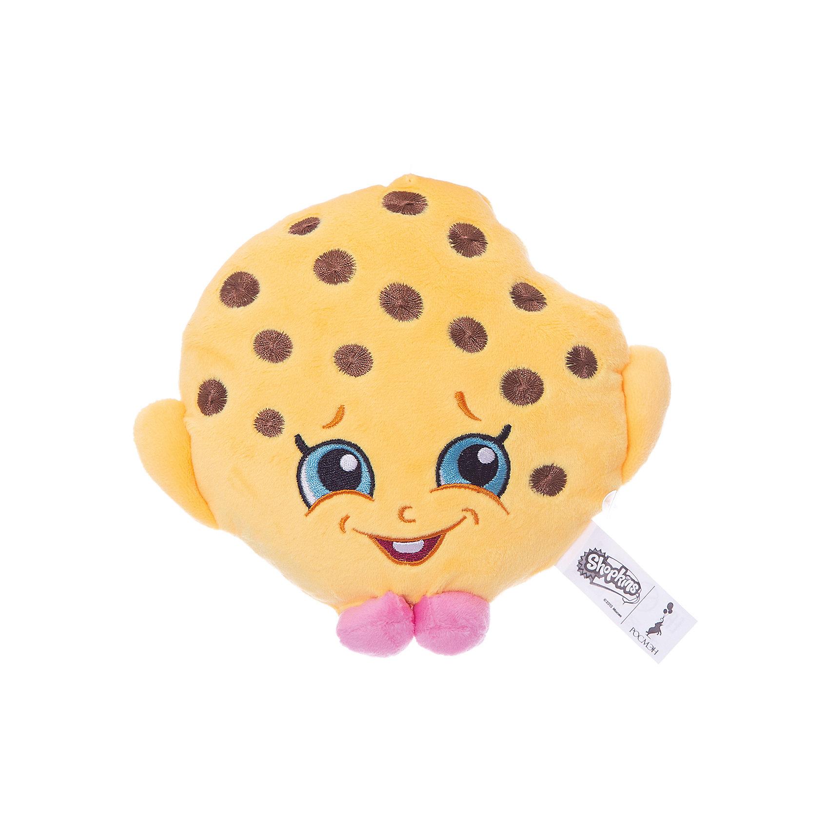 Мягкая игрушка Печенька Куки, 20см, ShopkinsShopkins<br>Характеристики:<br><br>• размер игрушки: 20 см;<br>• материал: плюш;<br>• наполнитель: синтепон;<br>• декоративные элементы: вышивка;<br>• упаковка: ПВХ-пакет.<br><br>Плюшевая коллекционная игрушка Шопкинс создана по мотивам мультсериала для детей. Улыбчивая Печенька Куки оформлена в соответствии с героиней Shopkins, личико - вышивка-аппликация, тельце мягконабивное, игрушка приятная на ощупь. В процессе игры развивается воображение, речь, тактильное восприятие.<br><br>Мягкую игрушку Печенька Куки, 20см, Shopkins можно купить в нашем магазине.<br><br>Ширина мм: 180<br>Глубина мм: 160<br>Высота мм: 50<br>Вес г: 60<br>Возраст от месяцев: 36<br>Возраст до месяцев: 2147483647<br>Пол: Женский<br>Возраст: Детский<br>SKU: 5247682