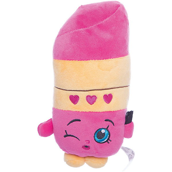 Мягкая игрушка Помадка Липпи, 20см, ShopkinsShopkins<br>Характеристики:<br><br>• размер игрушки: 20 см;<br>• материал: плюш;<br>• наполнитель: синтепон;<br>• декоративные элементы: вышивка;<br>• упаковка: ПВХ-пакет.<br><br>Плюшевая коллекционная игрушка Шопкинс создана по мотивам мультсериала для детей. Улыбчивая Помадка Липпи оформлена в соответствии с героиней Shopkins, личико - вышивка-аппликация, тельце мягконабивное, игрушка приятная на ощупь, помадка Липпи шлет воздушных поцелуй. В процессе игры развивается воображение, речь, тактильное восприятие.<br><br>Мягкую игрушку Помадка Липпи, 20см, Shopkins можно купить в нашем магазине.<br><br>Ширина мм: 185<br>Глубина мм: 90<br>Высота мм: 70<br>Вес г: 60<br>Возраст от месяцев: 36<br>Возраст до месяцев: 2147483647<br>Пол: Женский<br>Возраст: Детский<br>SKU: 5247683