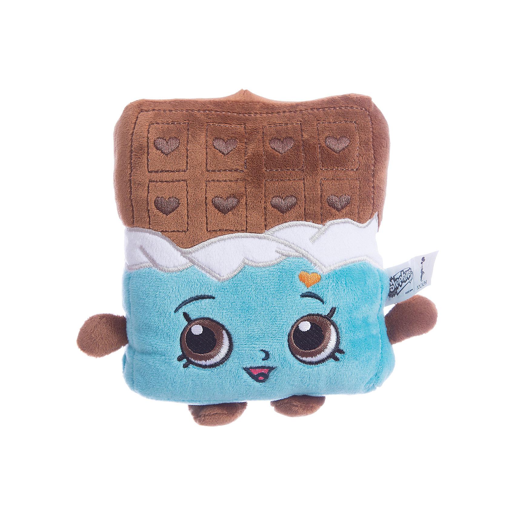 Мягкая игрушка Шоколадка Чеки, 20см, ShopkinsShopkins<br>Характеристики:<br><br>• размер игрушки: 20 см;<br>• материал: плюш;<br>• наполнитель: синтепон;<br>• декоративные элементы: вышивка;<br>• упаковка: ПВХ-пакет.<br><br>Плюшевая коллекционная игрушка Шопкинс создана по мотивам мультсериала для детей. Аппетитная Шоколадка Чеки с ручками и ножками - персонаж Shopkins. Личико игрушки - вышивка-аппликация, тельце мягконабивное, мягкая игрушка приятная на ощупь. В процессе игры развивается воображение, речь, тактильное восприятие.<br><br>Мягкую игрушку Шоколадка Чеки, 20см, Shopkins можно купить в нашем магазине.<br><br>Ширина мм: 170<br>Глубина мм: 135<br>Высота мм: 55<br>Вес г: 80<br>Возраст от месяцев: 36<br>Возраст до месяцев: 2147483647<br>Пол: Унисекс<br>Возраст: Детский<br>SKU: 5247685