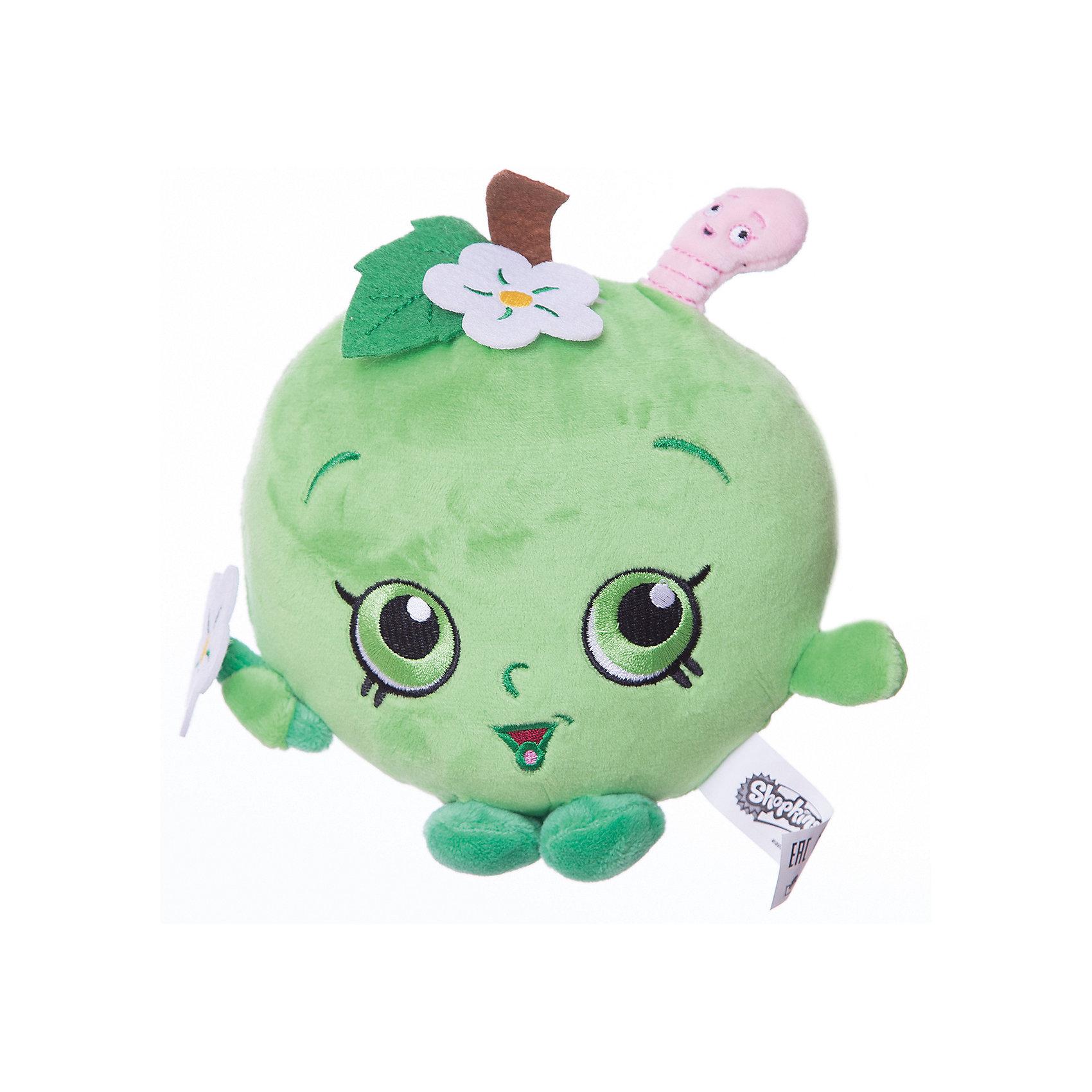 Мягкая игрушка Яблочко Фло, 20см, ShopkinsХарактеристики:<br><br>• размер игрушки: 20 см;<br>• материал: плюш;<br>• наполнитель: синтепон;<br>• декоративные элементы: вышивка;<br>• упаковка: ПВХ-пакет.<br><br>Плюшевая коллекционная игрушка Шопкинс создана по мотивам мультсериала для детей. Яблочко Фло с ручками и ножками - персонаж Shopkins. Личико игрушки - вышивка-аппликация, тельце мягконабивное, мягкая игрушка приятная на ощупь. В процессе игры развивается воображение, речь, тактильное восприятие.<br><br>Мягкую игрушку Яблочко Фло, 20см, Shopkins можно купить в нашем магазине.<br><br>Ширина мм: 155<br>Глубина мм: 155<br>Высота мм: 70<br>Вес г: 80<br>Возраст от месяцев: 36<br>Возраст до месяцев: 2147483647<br>Пол: Унисекс<br>Возраст: Детский<br>SKU: 5247686