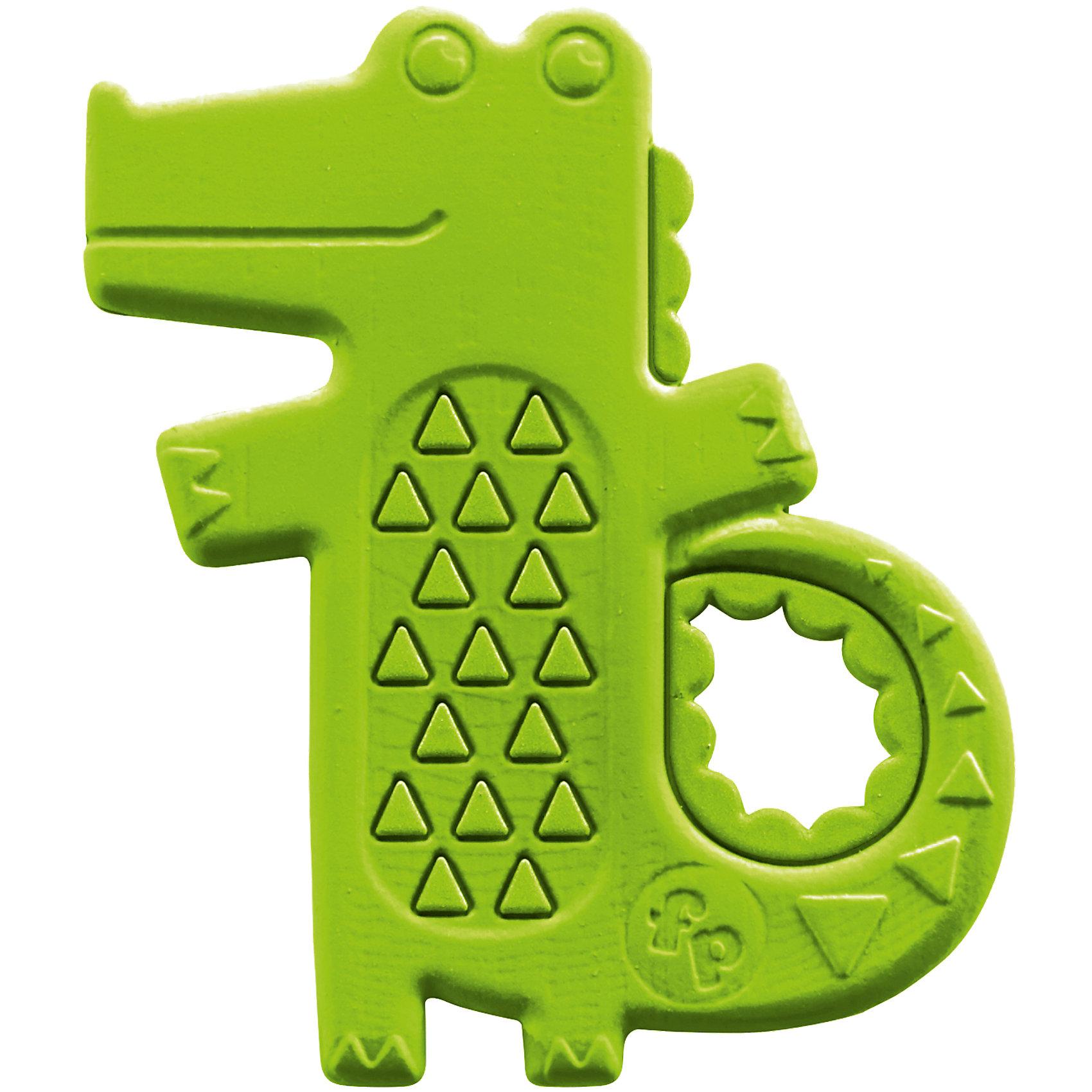 Погремушка-прорезыватель Крокодильчик, Fisher PriceПрорезыватели<br>Характеристики товара:<br><br>• возраст с рождения;<br>• материал: пластик;<br>• размер упаковки 14х18х4 см;<br>• вес упаковки 74 гр.;<br>• страна производитель: Китай.<br><br>Погремушка-прорезыватель Крокодильчик Fisher Price — игрушка для малышей с рождения, выполненная в виде зеленого крокодильчика. Она поможет снять зуд и неприятные ощущения, когда у малыша начнут резаться зубки. За ручку малыш может хвататься пальчиками. Игрушка способствует развитию у малышей хватательного рефлекса, мелкой моторики рук, тактильных ощущений. Она выполнена из безопасных экологически чистых материалов.<br><br>Погремушку-прорезыватель Крокодильчик Fisher Price можно приобрести в нашем интернет-магазине.<br><br>Ширина мм: 182<br>Глубина мм: 141<br>Высота мм: 10<br>Вес г: 55<br>Возраст от месяцев: 0<br>Возраст до месяцев: 12<br>Пол: Унисекс<br>Возраст: Детский<br>SKU: 5248095