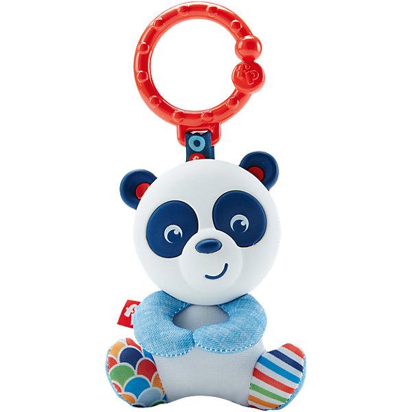 Погремушка-прорезыватель Панда, Fisher PriceИгрушки для новорожденных<br>Характеристики товара:<br><br>• возраст с рождения;<br>• материал: пластик;<br>• размер упаковки 14х18х4 см;<br>• вес упаковки 74 гр.;<br>• страна производитель: Китай.<br><br>Погремушка-прорезыватель Панда Fisher Price — игрушка для малышей с рождения, выполненная в виде панды. Она поможет снять зуд и неприятные ощущения, когда у малыша начнут резаться зубки. При помощи кольца игрушку можно повесить на коляску или автокресло. Игрушка способствует развитию у малышей хватательного рефлекса, мелкой моторики рук. Она выполнена из безопасных экологически чистых материалов.<br><br>Погремушку-прорезыватель Панда Fisher Price можно приобрести в нашем интернет-магазине.<br>Ширина мм: 145; Глубина мм: 129; Высота мм: 53; Вес г: 68; Возраст от месяцев: 0; Возраст до месяцев: 12; Пол: Унисекс; Возраст: Детский; SKU: 5248096;