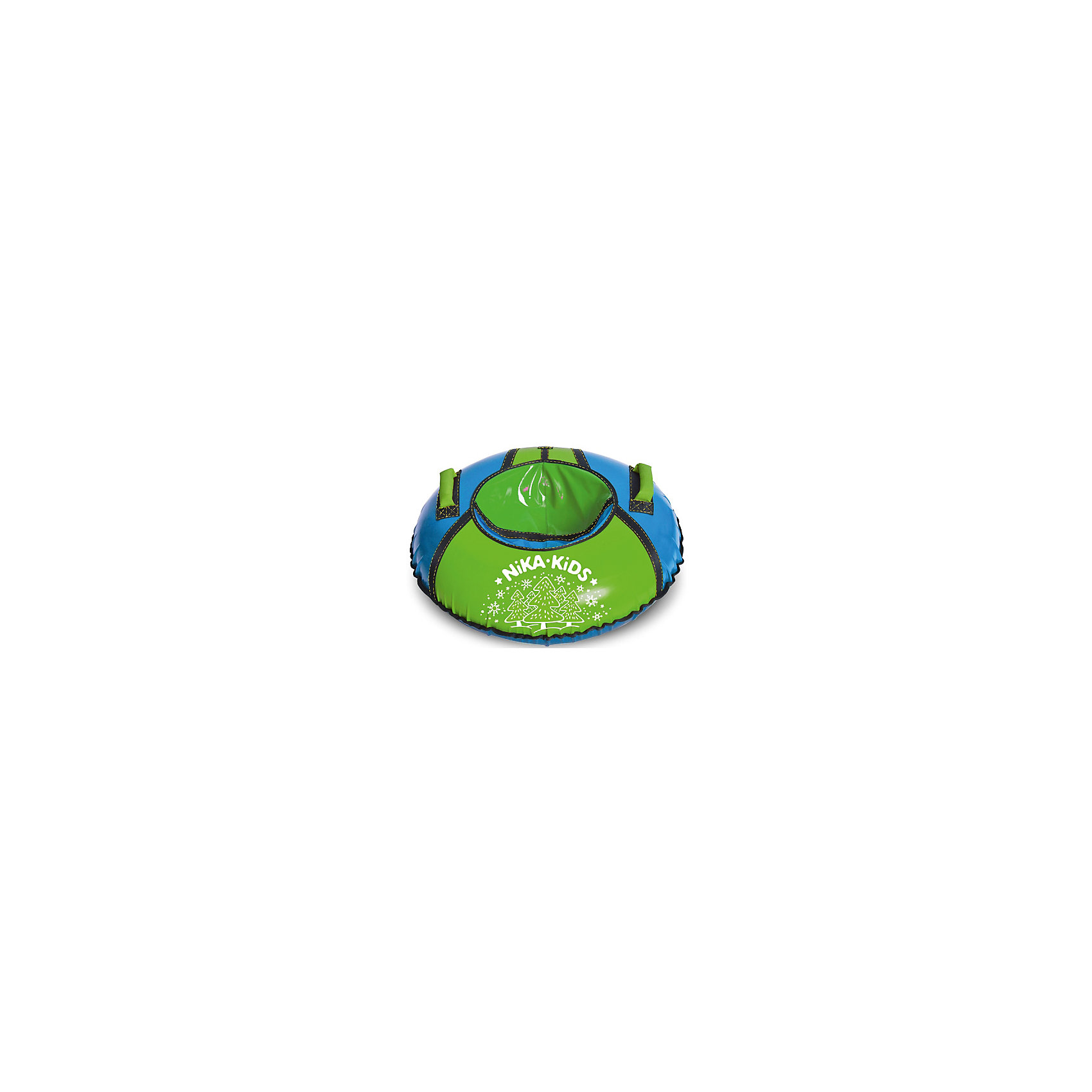 Тюбинг Елочки, НикаТюбинг Елочки, Ника - яркий тюбинг с красочным рисунком, который  превратит зимнюю прогулку в увлекательное событие. Надувные сани полностью изготовлены из высококачественной тентовой ПВХ ткани с глянцевой поверхностью. Усиленная камера входит в комплект изделия.<br> <br>• Верх автотент 550 гр/кв.м<br> • Усиленное дно автотент 850 гр/кв.м<br> • Диаметр тюбинга в надутом состоянии 950мм<br> • Диаметр тюбинга в сдутом состоянии 1050мм<br> • Устойчивый к морозам материал (до -25-28 С)<br> • Все швы усилены капроновой лентой<br> • Буксировочный ремень<br> • Эргономичные усиленные ручки<br> • Защитный внутренний клапан с потайной молнией<br> • Усиленная камера в комплекте<br> • Максимальная нагрузка 100 кг<br> • Рекомендуемый возраст от 12 лет<br> • В упаковке-1шт.<br><br>Тюбинг Елочки, Ника можно купить в нашем интернет-магазине.<br><br>Ширина мм: 300<br>Глубина мм: 300<br>Высота мм: 30<br>Вес г: 2000<br>Возраст от месяцев: 36<br>Возраст до месяцев: 144<br>Пол: Унисекс<br>Возраст: Детский<br>SKU: 5248182