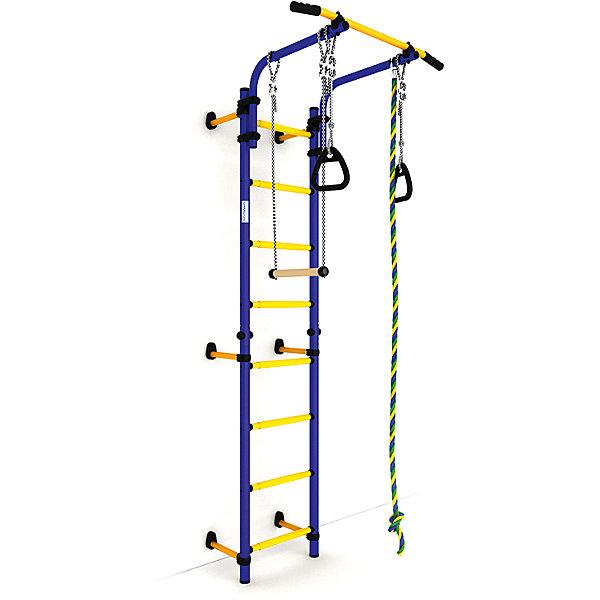 Шведская лестница NEXT-1 (410 мм), синий-желтыйШведские стенки<br>Шведская стенка с креплениями к стене Комета NEXT 1 - самый популярный домашний спортивный комплекс. Турник, регулируемый по длине лестницы, позволяет делать упражнения на комфортной для пользователя высоте.<br>Ширина мм: 1160; Глубина мм: 535; Высота мм: 140; Вес г: 23000; Возраст от месяцев: 36; Возраст до месяцев: 192; Пол: Унисекс; Возраст: Детский; SKU: 5251540;