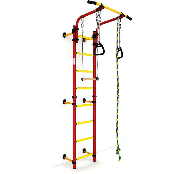 Шведская лестница Комета NEXT-1 (410 мм), красный-желтыйШведские стенки<br>Шведская стенка с креплениями к стене Комета NEXT 1 - самый популярный домашний спортивный комплекс. Турник, регулируемый по длине лестницы, позволяет делать упражнения на комфортной для пользователя высоте.<br>Ширина мм: 1160; Глубина мм: 535; Высота мм: 140; Вес г: 23000; Возраст от месяцев: 36; Возраст до месяцев: 192; Пол: Унисекс; Возраст: Детский; SKU: 5251542;