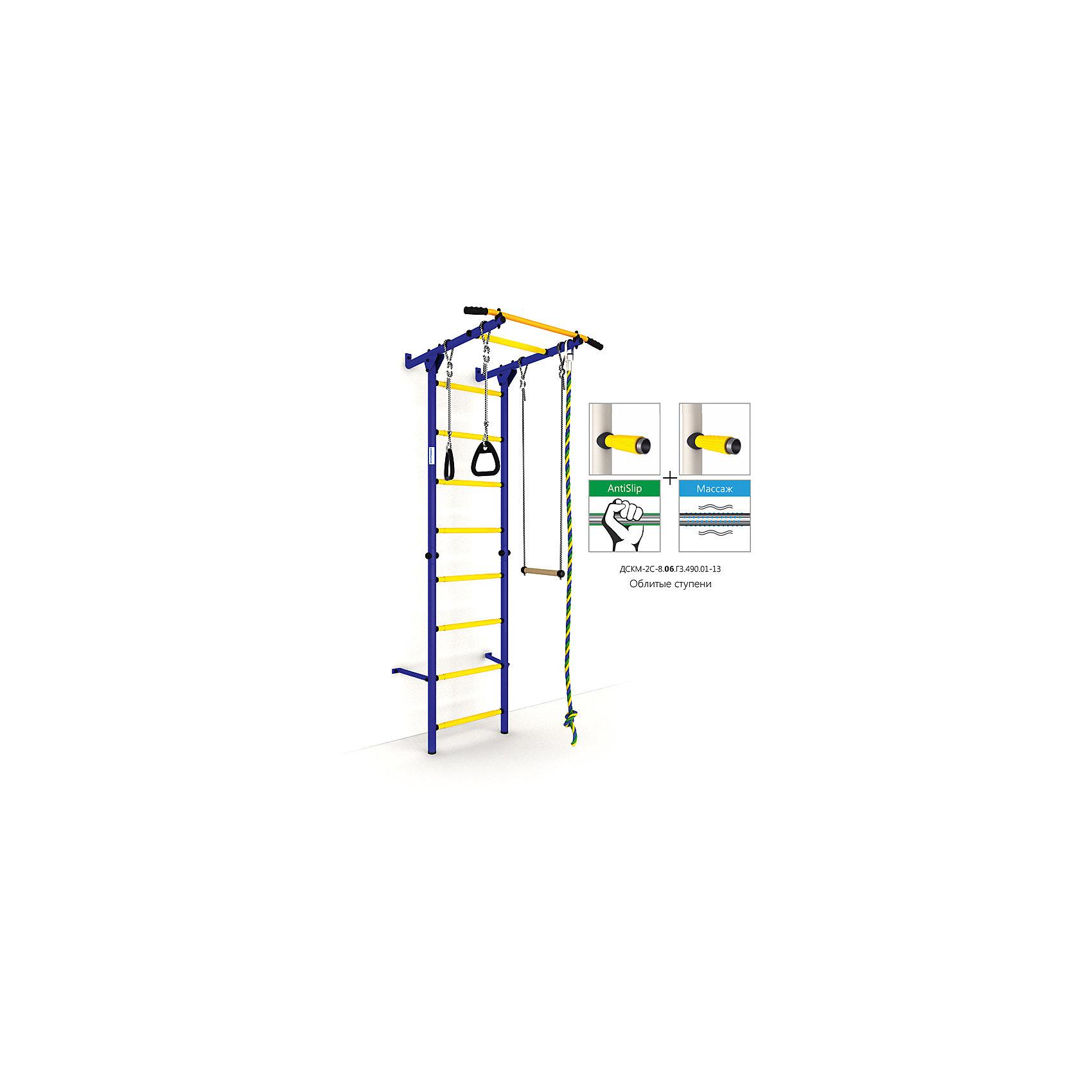 Шведская лестница Карусель S1, синий-желтыйШведские стенки<br>Карусель S1 использует внедренную ступень antislip (антискользящая), обеспечивающая более крепкий хват. Микромассажный эффект остальных ступеней помогает развитию общей моторики детей и является профилактикой плоскостопия.<br><br>Ширина мм: 1160<br>Глубина мм: 610<br>Высота мм: 140<br>Вес г: 23000<br>Возраст от месяцев: 36<br>Возраст до месяцев: 192<br>Пол: Унисекс<br>Возраст: Детский<br>SKU: 5251545