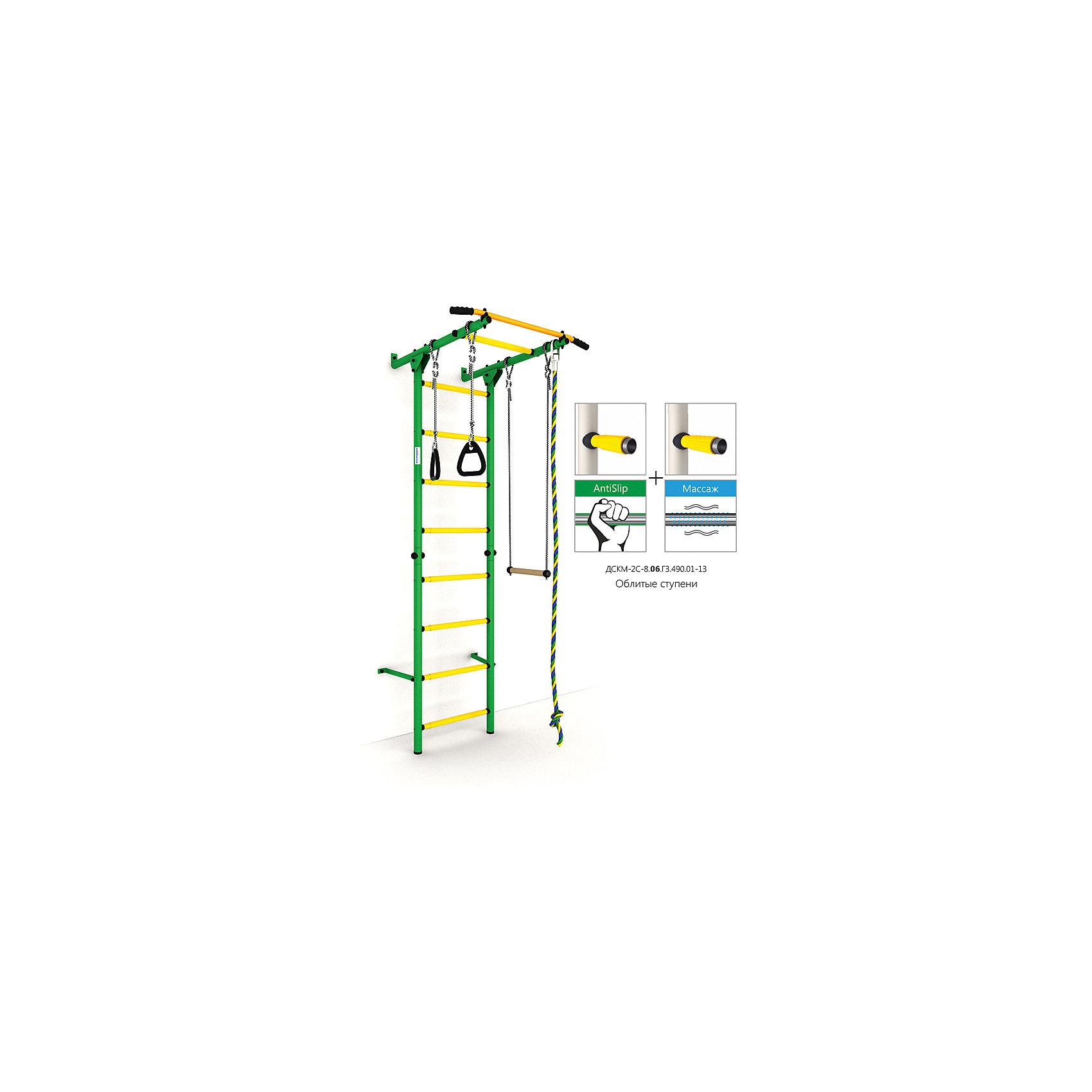 Шведская лестница Карусель S1, зеленый-желтыйШведские стенки<br>Карусель S1 использует внедренную ступень antislip (антискользящая), обеспечивающая более крепкий хват. Микромассажный эффект остальных ступеней помогает развитию общей моторики детей и является профилактикой плоскостопия.<br><br>Ширина мм: 1160<br>Глубина мм: 610<br>Высота мм: 140<br>Вес г: 23000<br>Возраст от месяцев: 36<br>Возраст до месяцев: 192<br>Пол: Унисекс<br>Возраст: Детский<br>SKU: 5251546