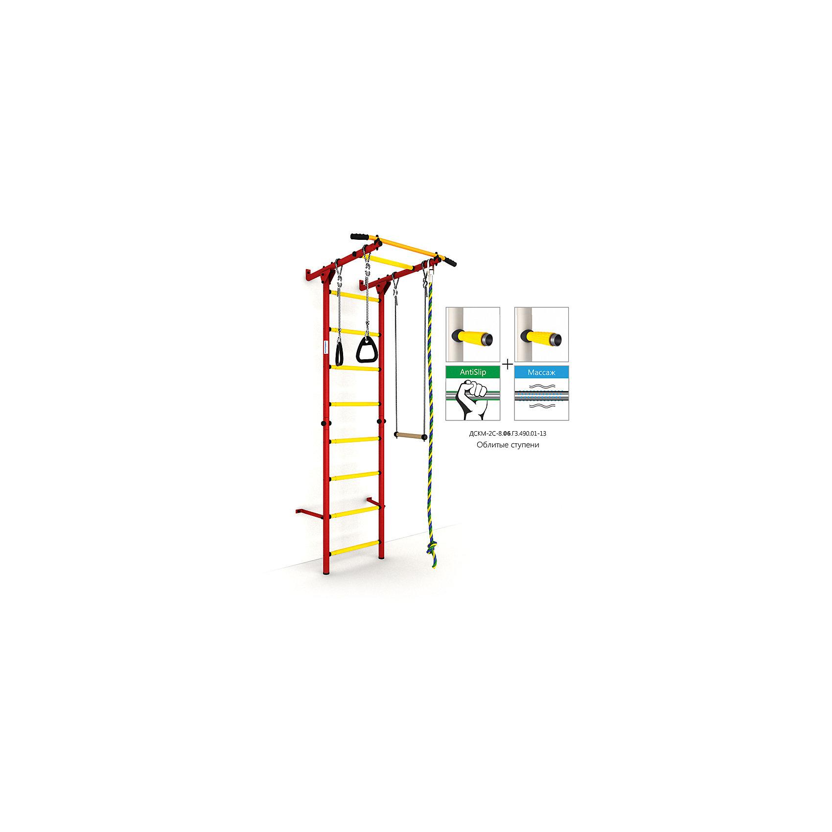 Шведская лестница Карусель S1, красный-желтыйШведские стенки<br>Карусель S1 использует внедренную ступень antislip (антискользящая), обеспечивающая более крепкий хват. Микромассажный эффект остальных ступеней помогает развитию общей моторики детей и является профилактикой плоскостопия.<br><br>Ширина мм: 1160<br>Глубина мм: 610<br>Высота мм: 140<br>Вес г: 23000<br>Возраст от месяцев: 36<br>Возраст до месяцев: 192<br>Пол: Унисекс<br>Возраст: Детский<br>SKU: 5251547