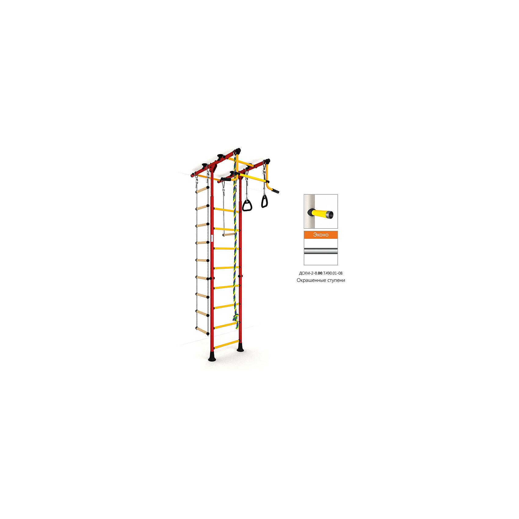 Шведская лестница Комета-1 Эконо, красный-желтыйШведские стенки<br>Вариант РОМАНА Карусель Комета-1 с окрашенными ступенями, без дополнительного покрытия – ЭКОНО<br><br>Ширина мм: 1160<br>Глубина мм: 610<br>Высота мм: 140<br>Вес г: 29000<br>Возраст от месяцев: 36<br>Возраст до месяцев: 192<br>Пол: Унисекс<br>Возраст: Детский<br>SKU: 5251555