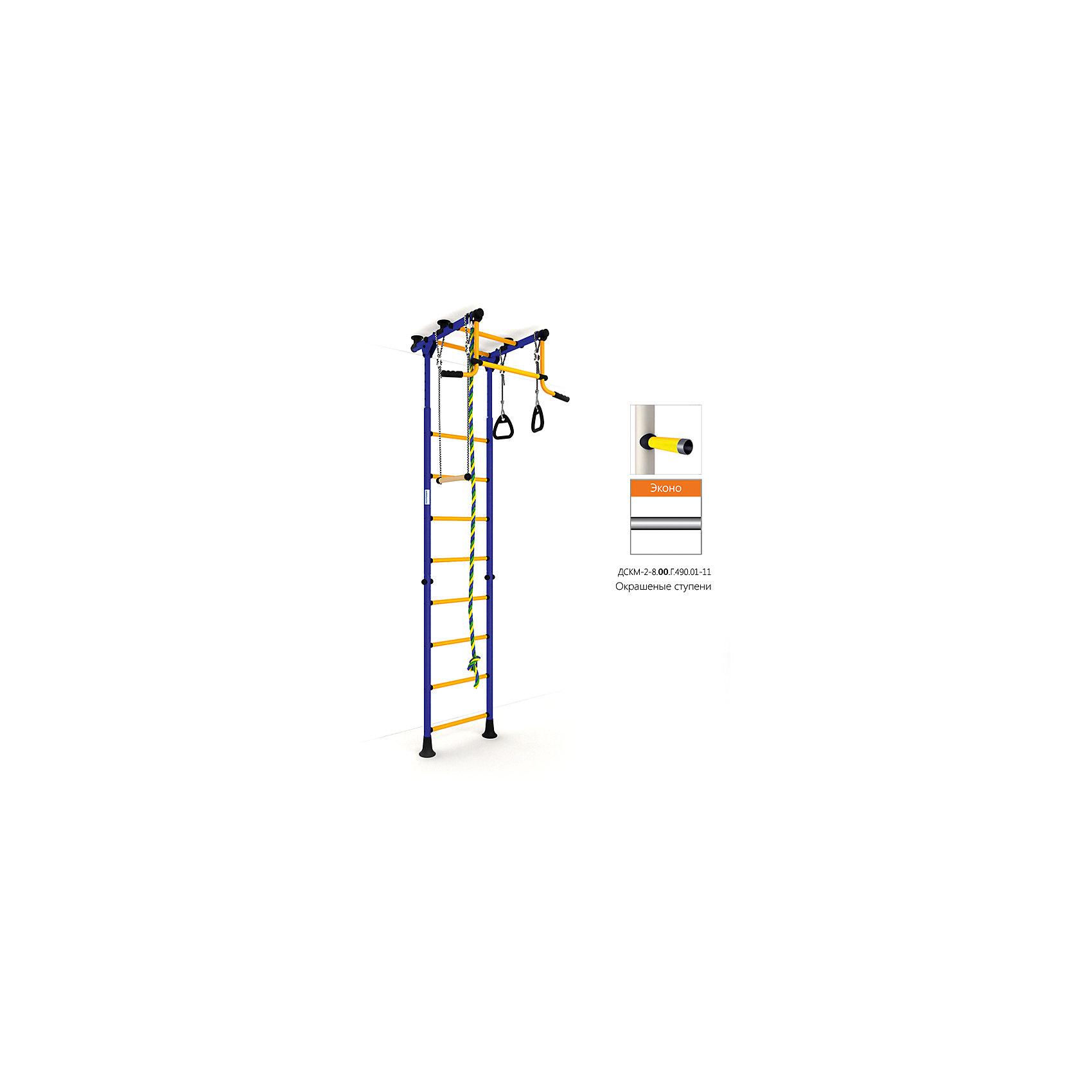 Шведская лестница Комета-2 Эконо, синий-желтыйШведские стенки<br>Вариант РОМАНА Карусель Комета-2 с окрашенными ступенями, без дополнительного покрытия – ЭКОНО<br><br>Ширина мм: 1160<br>Глубина мм: 610<br>Высота мм: 140<br>Вес г: 26000<br>Возраст от месяцев: 36<br>Возраст до месяцев: 192<br>Пол: Унисекс<br>Возраст: Детский<br>SKU: 5251557