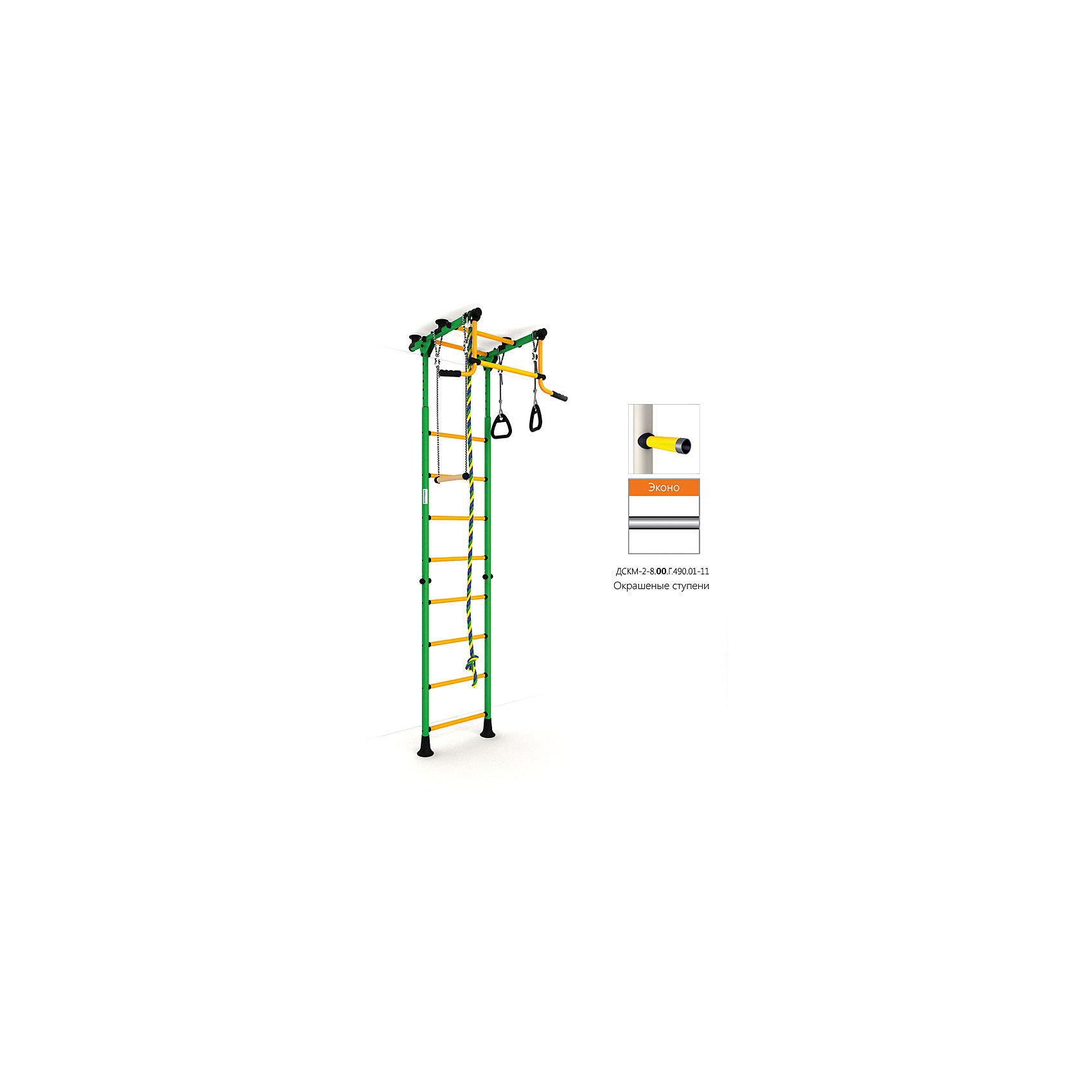 Шведская лестница Комета-2 Эконо, зеленый-желтыйШведские стенки<br>Вариант РОМАНА Карусель Комета-2 с окрашенными ступенями, без дополнительного покрытия – ЭКОНО<br><br>Ширина мм: 1160<br>Глубина мм: 610<br>Высота мм: 140<br>Вес г: 26000<br>Возраст от месяцев: 36<br>Возраст до месяцев: 192<br>Пол: Унисекс<br>Возраст: Детский<br>SKU: 5251558