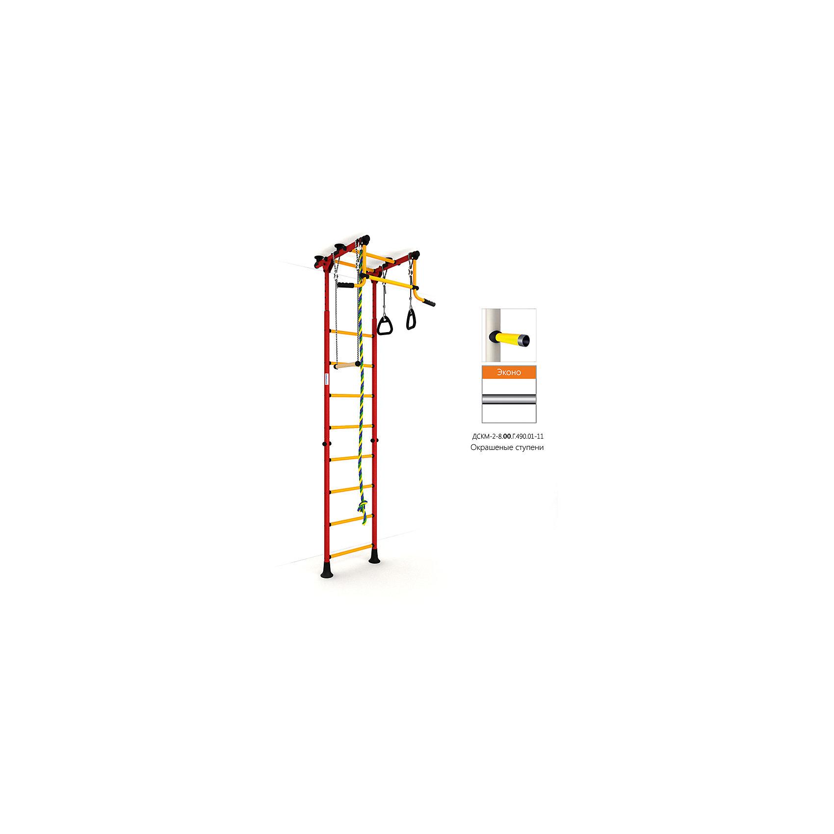 Шведская лестница Комета-2 Эконо, красный-желтыйШведские стенки<br>Вариант РОМАНА Карусель Комета-2 с окрашенными ступенями, без дополнительного покрытия – ЭКОНО<br><br>Ширина мм: 1160<br>Глубина мм: 610<br>Высота мм: 140<br>Вес г: 26000<br>Возраст от месяцев: 36<br>Возраст до месяцев: 192<br>Пол: Унисекс<br>Возраст: Детский<br>SKU: 5251559