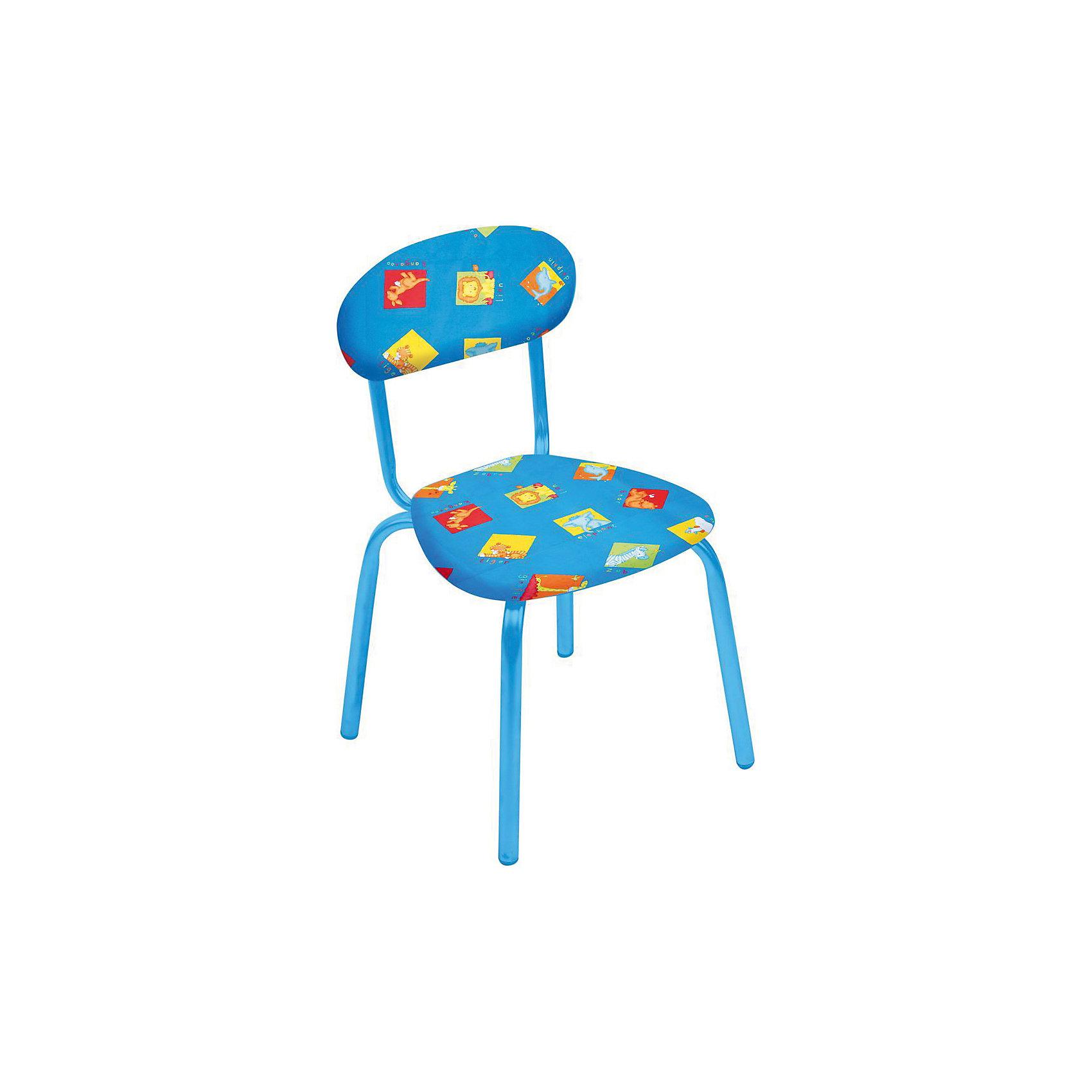 Стул СТУ5. Звери на синем, НикаСтолы и стулья<br>Стул СТУ5. Звери на синем, Ника.<br><br>Характеристики:<br><br>- Для детей от 1.5 до 3 лет<br>- Высота до сидения: 29 см.<br>- Высота по спинке: 54 см.<br>- Размер сидения: 31х28 см.<br>- Материал: металл окрашенный, фанера, поролон, пластмасса, ткань (замша) или винилискожа<br>- Основной цвет: синий<br>- Мягкое сиденье и спинка<br>- Устойчивая конструкция<br>- Яркие рисунки<br><br>Стул «Звери на синем» разработан специально для детей от полутора до трех лет. Он легкий, устойчивый и занимает немного места. Сидение и спинка стула выполнены из фанеры и обиты поролоном. Каркас металлический. Стул декорирован яркими рисунками, которые понравятся малышам. Стул «Звери на синем» - это отличное решение для игр, творчества и развивающих занятий! Ведь правильно подобранная детская мебель помогает ребенку расти здоровым, и способствует формированию правильной осанки. Изделие производится из качественных сертифицированных материалов, безопасных даже для самых маленьких.<br><br>Стул СТУ5. Звери на синем, Ника можно купить в нашем интернет-магазине.<br><br>Ширина мм: 350<br>Глубина мм: 545<br>Высота мм: 320<br>Вес г: 1900<br>Возраст от месяцев: 180<br>Возраст до месяцев: 36<br>Пол: Унисекс<br>Возраст: Детский<br>SKU: 5253029