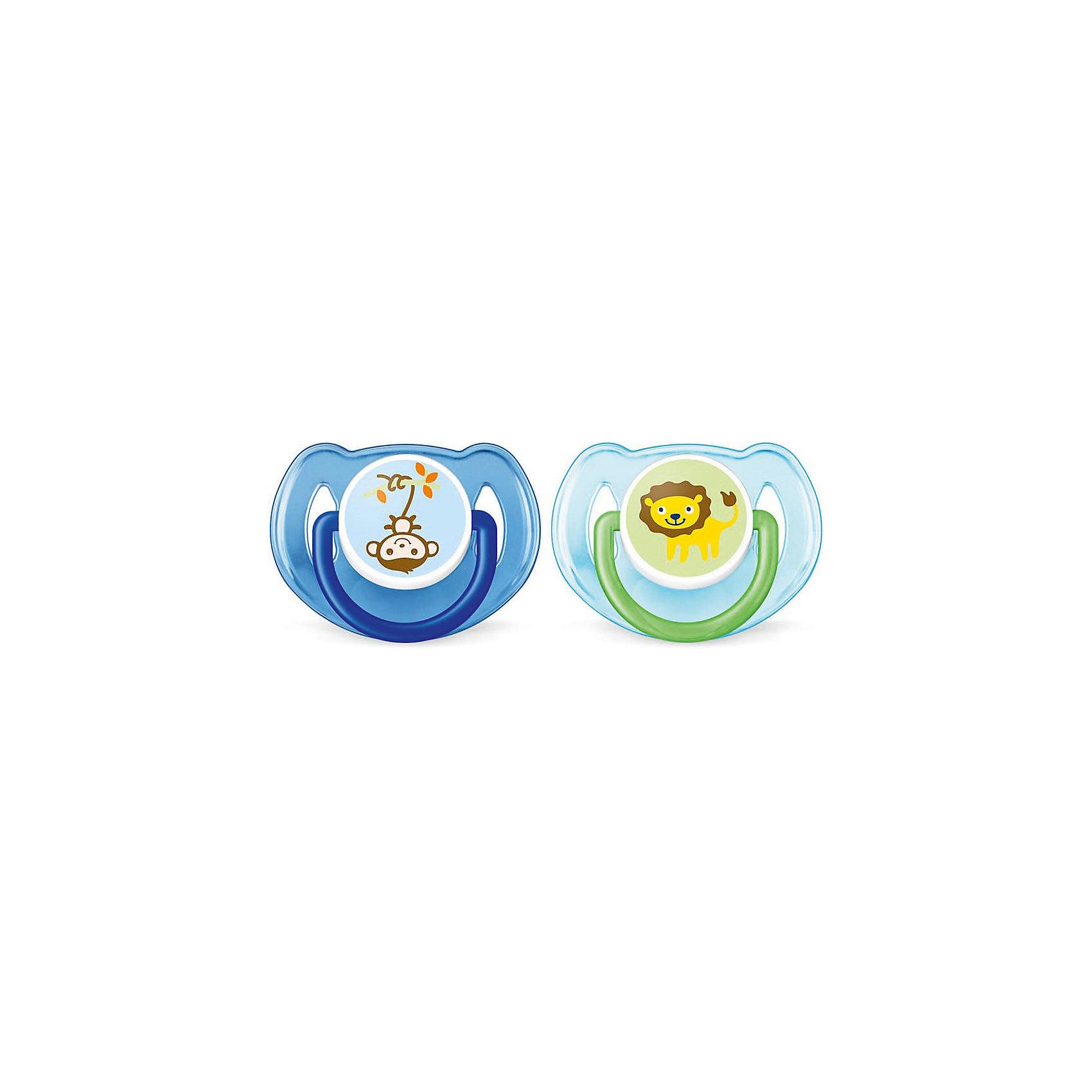 Силиконова пустышка Classic, 6-18 мес., 2 шт., Philips Avent, синий/голубой (SCF197/22)Силиконовая пустышка Classic, 6-18 мес., 2 шт., Philips Avent, синяя/голубая (SCF197/22).<br><br>Характеристика:<br><br>• Материал: силикон, пластик.    <br>• Возраст ребенка: 6-18 мес. <br>• 2 пустышки в комплекте. <br>• Отверстия для вентиляции на щитке.  <br>• Удобное кольцо на щитке. <br>• Не содержит Бисфенол А.<br>• Устойчивая к прокусыванию. <br>• Мягкая симметричная соска. <br><br>Яркая пустышка Classic от Philips Avent подходит для уже подросших малышей. Мягкая силиконовая соска выполнена с учетом особенностей строения и развития неба, зубов и десен ребенка и устойчива к прокусыванию. Круглое пластиковое основание оснащено отверстиями для вентиляции, предотвращающими раздражение нежной кожи крохи. Пустышка изготовлена из высококачественных нетоксичных материалов, в производстве которых не используется Бисфенол А.<br><br>Силиконовую пустышку Classic, 6-18 мес., 2 шт., Philips Avent, синюю/голубую (SCF197/22), можно купить в нашем интернет-магазине.<br><br>Ширина мм: 48<br>Глубина мм: 104<br>Высота мм: 115<br>Вес г: 58<br>Возраст от месяцев: 6<br>Возраст до месяцев: 18<br>Пол: Мужской<br>Возраст: Детский<br>SKU: 5253035