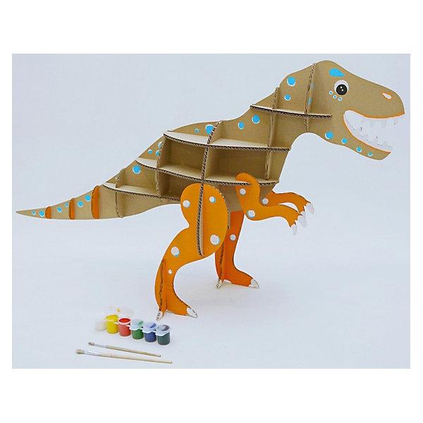Набор игровой из картона Домашний динозавр: Тираннозавр, крафт