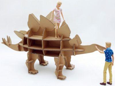 Картонный папа Набор игровой из картона Домашний Стегозавр , крафт фото-1