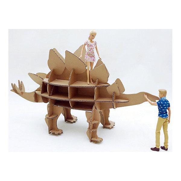 Набор игровой из картона Домашний Стегозавр, крафтКартонные конструкторы<br>Характеристики:<br><br>• сборная модель из картонных деталей, без клея и ножниц;<br>• материал: гофрокартон;<br>• комплектация: детали для сборки динозавра, нейлоновые крепления, инструкция;<br>• размер динозавра в собранном виде: 89х83х32 см;<br>• размер упаковки: 46х46х7 см;<br>• вес: 1,3 кг.<br><br>Набор для творчества «Стегозавр» из серии «Домашний динозавр» предлагает ребятам собрать модель динозавра из картонных деталей. Модель собирается без клея, подробная инструкция объясняет процесс работы. У динозавра бока представлены как полочки, на которых удобно разместятся мелкие игрушечные зверушки, куколки или детские поделки. При желании динозавра можно раскрасить красками, фломастерами или карандашами.<br><br>Набор игровой из картона Домашний Стегозавр, крафт можно купить в нашем магазине.<br><br>Ширина мм: 460<br>Глубина мм: 460<br>Высота мм: 65<br>Вес г: 1100<br>Возраст от месяцев: 36<br>Возраст до месяцев: 2147483647<br>Пол: Унисекс<br>Возраст: Детский<br>SKU: 5253051