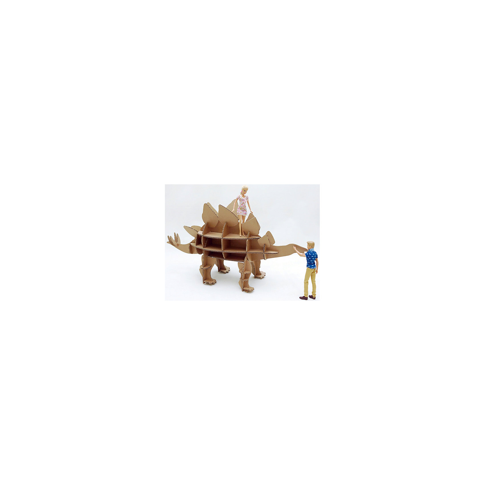 Набор игровой из картона Домашний Стегозавр, крафтБренды конструкторов<br>Характеристики:<br><br>• сборная модель из картонных деталей, без клея и ножниц;<br>• материал: гофрокартон;<br>• комплектация: детали для сборки динозавра, нейлоновые крепления, инструкция;<br>• размер динозавра в собранном виде: 89х83х32 см;<br>• размер упаковки: 46х46х7 см;<br>• вес: 1,3 кг.<br><br>Набор для творчества «Стегозавр» из серии «Домашний динозавр» предлагает ребятам собрать модель динозавра из картонных деталей. Модель собирается без клея, подробная инструкция объясняет процесс работы. У динозавра бока представлены как полочки, на которых удобно разместятся мелкие игрушечные зверушки, куколки или детские поделки. При желании динозавра можно раскрасить красками, фломастерами или карандашами.<br><br>Набор игровой из картона Домашний Стегозавр, крафт можно купить в нашем магазине.<br><br>Ширина мм: 460<br>Глубина мм: 460<br>Высота мм: 65<br>Вес г: 1100<br>Возраст от месяцев: 36<br>Возраст до месяцев: 2147483647<br>Пол: Унисекс<br>Возраст: Детский<br>SKU: 5253051