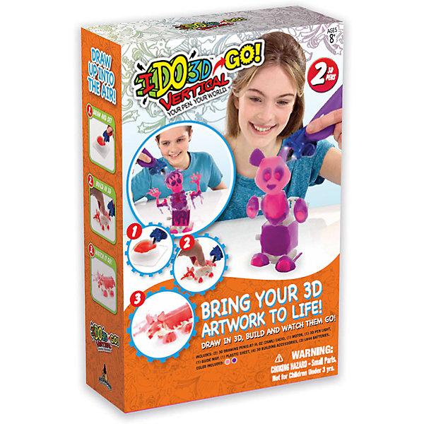 3D ручка Панда (розовый, сиреневый), Вертикаль GOНаборы 3D ручек<br>Характеристики товара:<br><br>• цвет: розовый, сиреневый<br>• материал: пластик<br>• вес: 350 г<br>• размер упаковки: 22х8х33 см<br>• комплектация: 2 цветные 3D ручки, световая насадка для отверждения, трафареты и инструкция<br>• батарейки: 3хА76/(LR44), входят в набор<br>• упаковка: коробка<br>• страна производства: Китай<br><br>3D-рисование - это современный и очень увлекательный вид творчества! С помощью него также можно создать множество полезных и уникальных вещей. Эта 3D-ручка - качественный и удобный предмет, который поможет ребенку выразить свои творческие способности. Объемный рисунок получается из яркого материала, очень красиво смотрится. Набор для рисования в воздухе c заводным механизмом для создания заводных игрушек <br>В наборе есть всё необходимое, чтобы сразу приступить к созданию объемных рисунков! Изделие произведено из качественных и безопасных для ребенка материалов.<br><br>3D ручку Панда (розовый, сиреневый), Вертикаль GO, можно купить в нашем интернет-магазине.<br><br>Ширина мм: 216<br>Глубина мм: 77<br>Высота мм: 330<br>Вес г: 350<br>Возраст от месяцев: 36<br>Возраст до месяцев: 2147483647<br>Пол: Женский<br>Возраст: Детский<br>SKU: 5253074