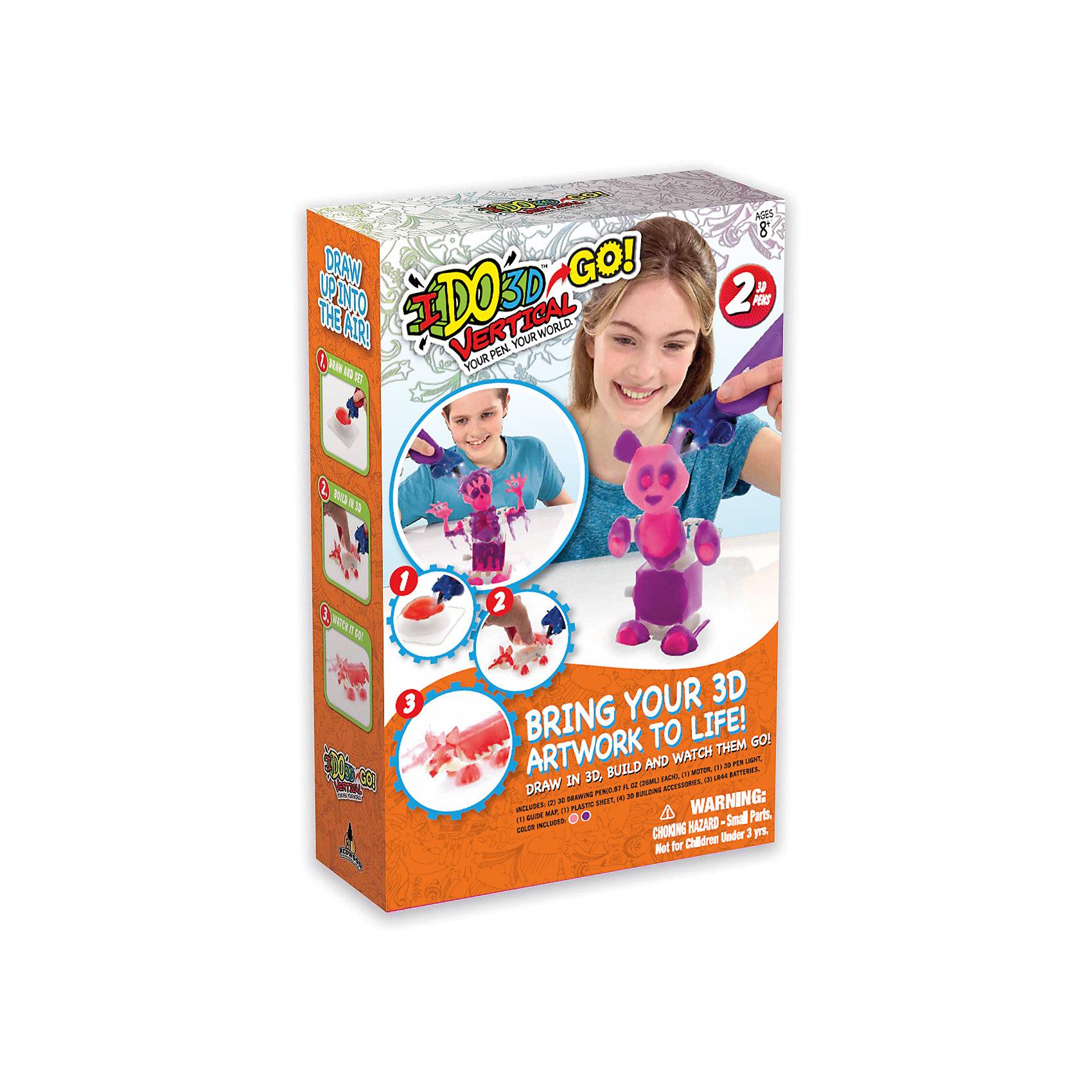 3D ручка Панда (розовый, сиреневый), Вертикаль GOХарактеристики товара:<br><br>• цвет: розовый, сиреневый<br>• материал: пластик<br>• вес: 350 г<br>• размер упаковки: 22х8х33 см<br>• комплектация: 2 цветные 3D ручки, световая насадка для отверждения, трафареты и инструкция<br>• батарейки: 3хА76/(LR44), входят в набор<br>• упаковка: коробка<br>• страна производства: Китай<br><br>3D-рисование - это современный и очень увлекательный вид творчества! С помощью него также можно создать множество полезных и уникальных вещей. Эта 3D-ручка - качественный и удобный предмет, который поможет ребенку выразить свои творческие способности. Объемный рисунок получается из яркого материала, очень красиво смотрится. Набор для рисования в воздухе c заводным механизмом для создания заводных игрушек <br>В наборе есть всё необходимое, чтобы сразу приступить к созданию объемных рисунков! Изделие произведено из качественных и безопасных для ребенка материалов.<br><br>3D ручку Панда (розовый, сиреневый), Вертикаль GO, можно купить в нашем интернет-магазине.<br><br>Ширина мм: 216<br>Глубина мм: 77<br>Высота мм: 330<br>Вес г: 350<br>Возраст от месяцев: 36<br>Возраст до месяцев: 2147483647<br>Пол: Женский<br>Возраст: Детский<br>SKU: 5253074