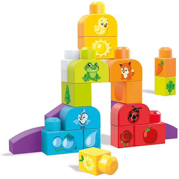 Обучающий конструктор MEGA BLOKS Изучаем цветаПластмассовые конструкторы<br>Характеристики:<br><br>• тип игрушки: игровой набор;<br>• возраст: от 1 года;<br>• количество деталей: 21 шт;<br>• размер: 26х21х10 см;<br>• бренд: Mega Bloks;<br>• материал: пластик;<br>• страна бренда: Канада.<br><br>Обучающий конструктор MEGA BLOKS «Изучаем цвета» поможет построить  яркий мир открытий и изучи все цвета радуги! Стройте и изучайте мир: ваш малыш может практиковаться подбирать формы и сочетать цвета с набором больших кубиков. Кубики всех цветов радуги украшены различными рисунками.<br><br>Совместите красные кубики и узнайте, что общего у яблока, божьей коровки и розы.<br>А потом совместите остальные кубики по цвету и сделайте еще больше ярких открытий.<br>Когда игра окончена, просто уберите все в мешок для хранения.<br> <br>Обучающий конструктор MEGA BLOKS «Изучаем цвета»  можно купить в нашем интернет-магазине.<br>Ширина мм: 266; Глубина мм: 210; Высота мм: 106; Вес г: 379; Возраст от месяцев: 12; Возраст до месяцев: 48; Пол: Унисекс; Возраст: Детский; SKU: 5254613;