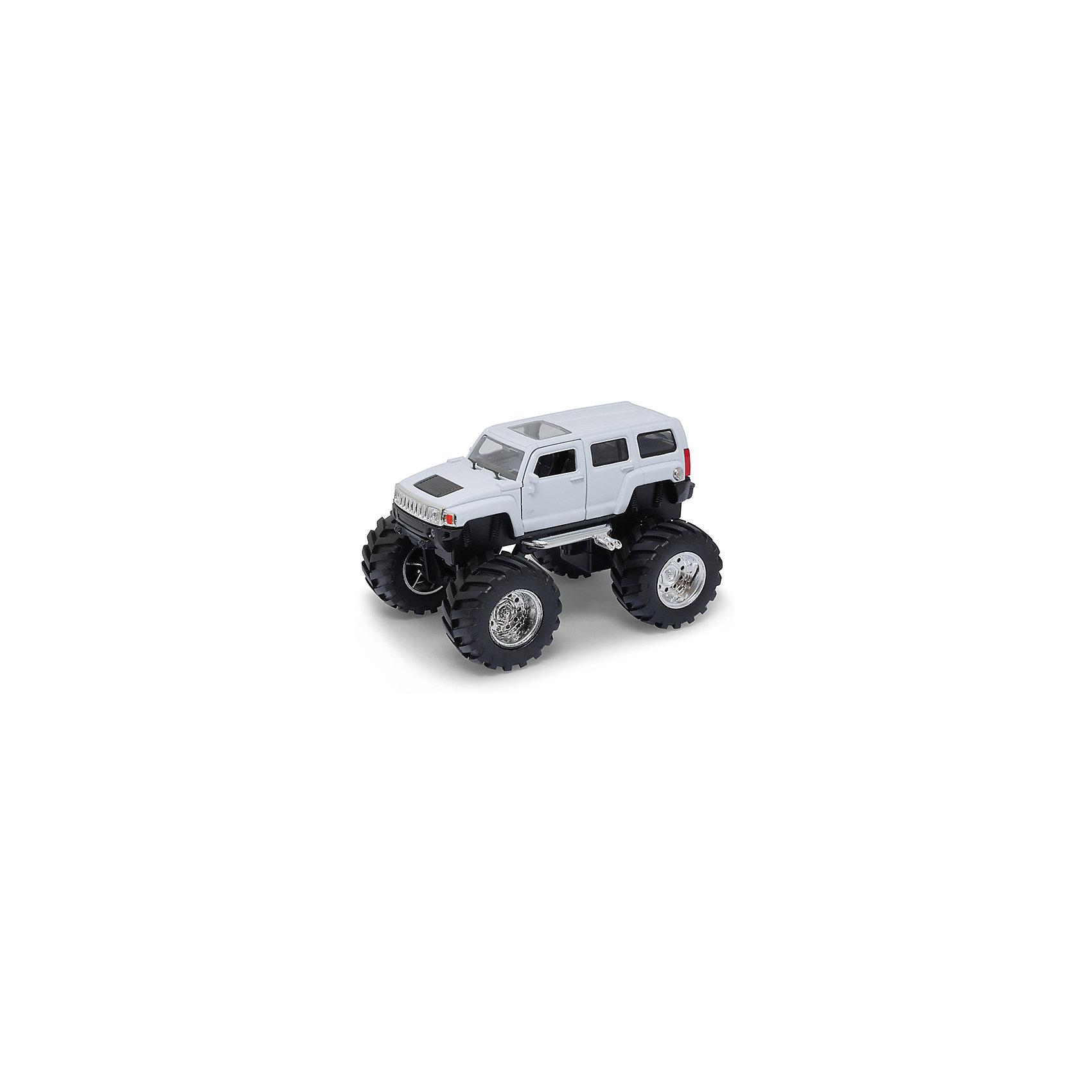 Модель машины 1:34-39 Hammer H3 Big Wheel, белая, WellyХарактеристики:<br><br>• тип автомобиля: внедорожник;<br>• открываются двери;<br>• прорезиненные колеса;<br>• наличие амортизаторов;<br>• инерционный механизм;<br>• масштаб: 1:34-39;<br>• материал: металл, пластик;<br>• размер упаковки: 15х11х6 см.<br><br>Устроить настоящие гонки на внедорожниках помогут машинки Hammer H3 Big Wheel. Мощные колеса, инерционный механизм, прочный корпус машинки дают возможность проводить соревнования снова и снова, машинки не бьются и не разбиваются. <br><br>Модель машины 1:34-39 Hammer H3 Big Wheel, белая, Welly можно купить в нашем магазине.<br><br>Ширина мм: 155<br>Глубина мм: 95<br>Высота мм: 100<br>Вес г: 291<br>Возраст от месяцев: 36<br>Возраст до месяцев: 2147483647<br>Пол: Мужской<br>Возраст: Детский<br>SKU: 5255012