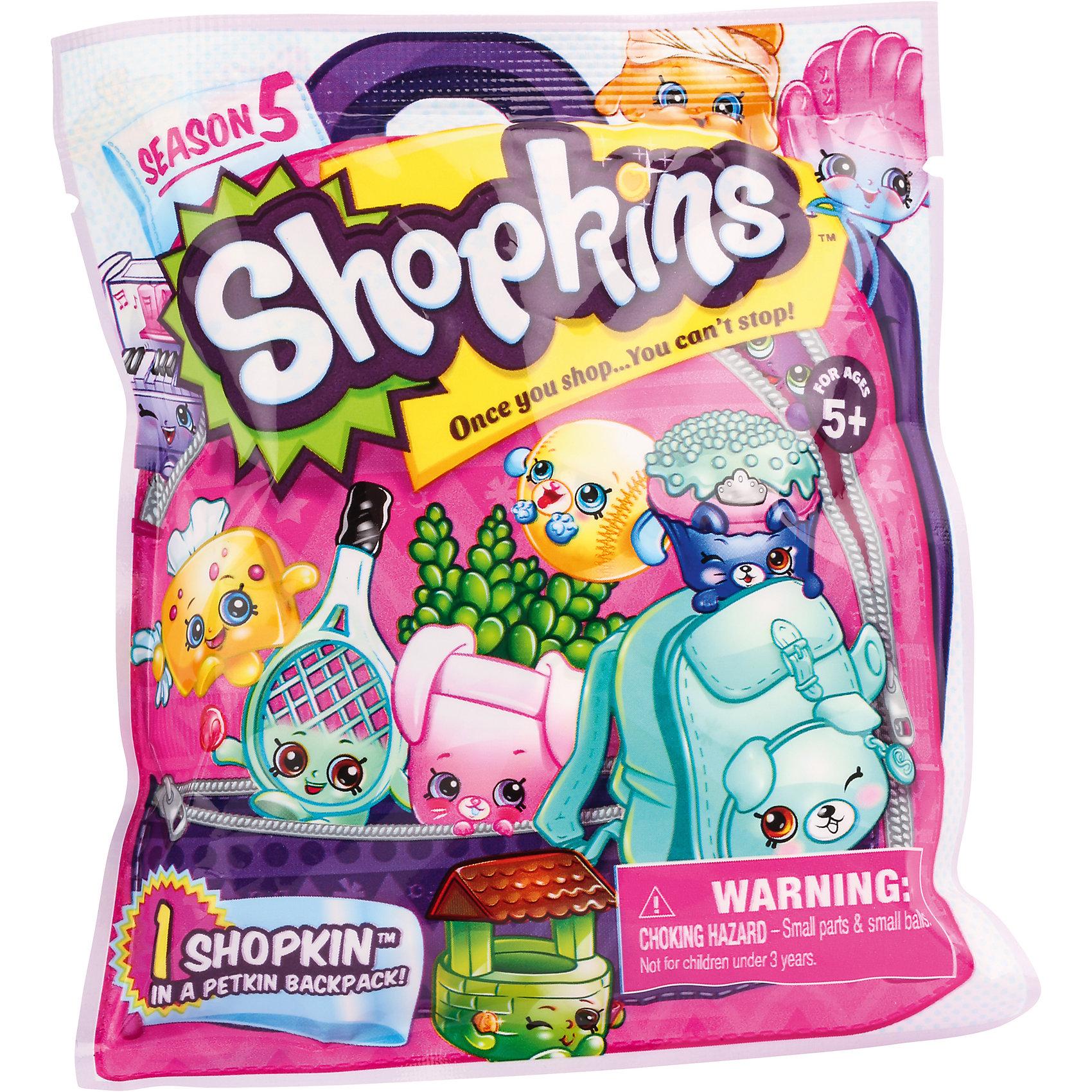 Пакетик с 1 героем, 5 серия, ShopkinsКоллекционные и игровые фигурки<br>Пакетик с 1 героем, 5 серия, Shopkins.<br><br>Характеристики:<br><br>- Комплектация: фигурка, рюкзачок, буклет коллекционера<br>- Цвет: разноцветный<br>- Материал: пластик<br>- Высота: 3 см.<br><br>Любителей Shopkins порадует возможность собрать целую коллекцию из персонажей! Герои продаются в непрозрачном пакете, поэтому заранее угадать - кто попадется, невозможно. В этот раз линейка забавных фигурок посвящена кондитерским изделиям и кухонным принадлежностям. Хотя здесь нашлось место персонажам и из других отделов магазина. Обновился и аксессуар для хранения или переноски фигурок. Теперь это рюкзачок Петкинс. Набор изготовлен из высококачественных материалов и соответствует стандартам безопасности. Игрушка имеет компактный размер, поэтому может сопровождать своего владельца в дороге или на прогулках!<br><br>Пакетик с 1 героем, 5 серия, Shopkins можно купить в нашем интернет-магазине.<br><br>Ширина мм: 105<br>Глубина мм: 30<br>Высота мм: 120<br>Вес г: 21<br>Возраст от месяцев: 60<br>Возраст до месяцев: 120<br>Пол: Женский<br>Возраст: Детский<br>SKU: 5255829