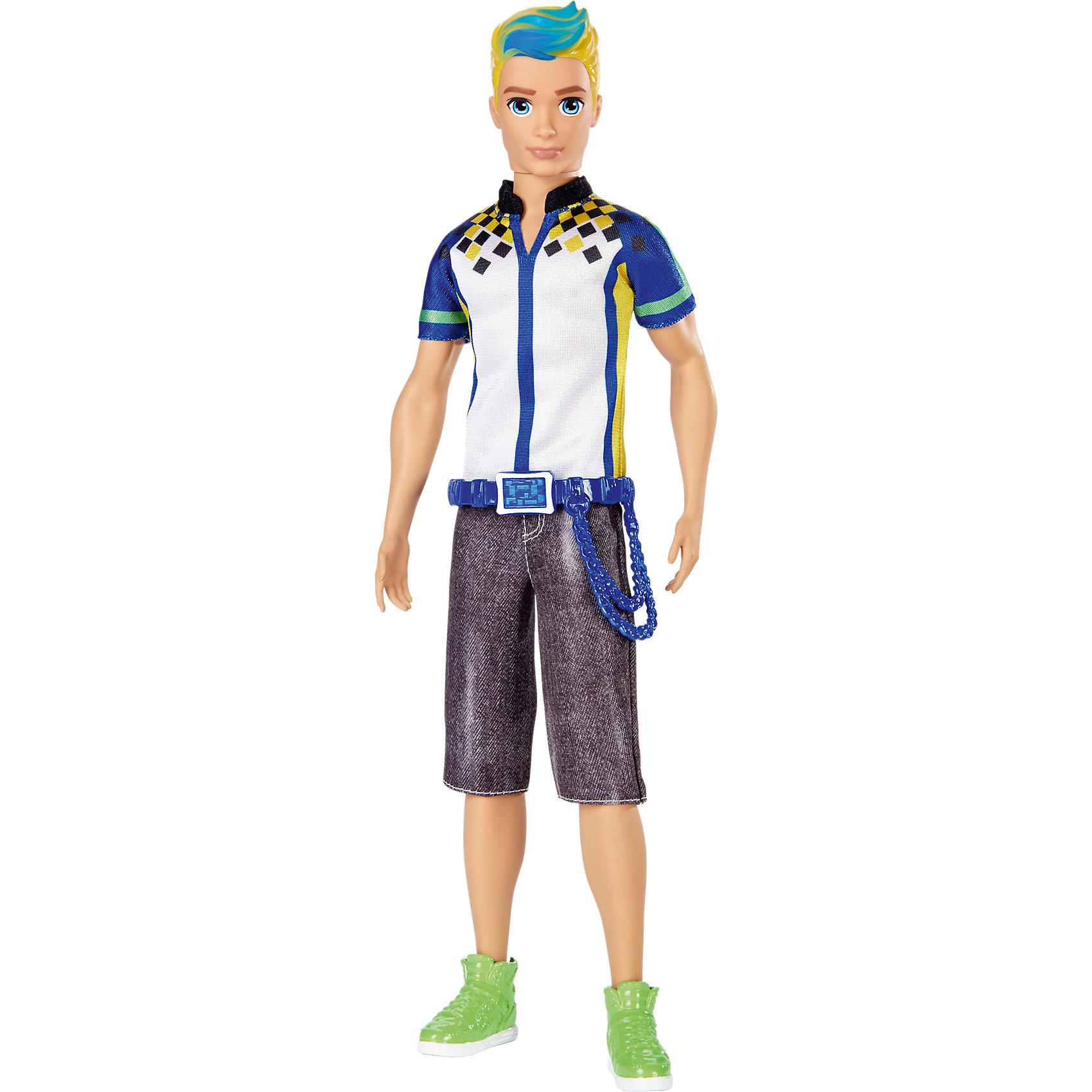 Кукла Кен из серии «Barbie и виртуальный мир»Популярные игрушки<br>Кукла Кен из серии «Barbie и виртуальный мир», (Барби)<br><br>Характеристики:<br><br>• яркий наряд в стиле аниме<br>• серия: Barbie и виртуальный мир<br>• материал: пластик, текстиль <br>• размер упаковки: 12х6х33 см<br>• вес: 220 грамм<br><br>Очаровательный Кен с нарядом в стиле аниме по достоинству оценят любители виртуального мира. Кен одет в футболку с ярким принтом, джинсовые шорты и стильные кеды. Пояс украшает ремень с длинной цепочкой. Яркий пряди в волосах отлично дополняют образ Кена. Кукла станет отличным подарком для поклонниц серии Barbie и виртуальный мир!<br><br>Куклу Кен из серии «Barbie и виртуальный мир», (Барби) можно купить в нашем интернет-магазине.<br><br>Ширина мм: 324<br>Глубина мм: 116<br>Высота мм: 53<br>Вес г: 233<br>Возраст от месяцев: 36<br>Возраст до месяцев: 72<br>Пол: Женский<br>Возраст: Детский<br>SKU: 5257090
