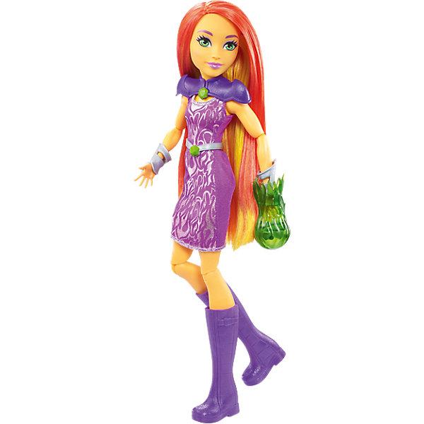 Кукла Старфайер DC Super Hero GirlsКуклы модели<br>Характеристики товара:<br><br>• упаковка: коробка-блистер<br>• материал: пластик<br>• серия: DC Super Hero Girls<br>• руки, ноги гнутся<br>• высота куклы: 30 см<br>• возраст: от трех лет<br>• размер упаковки: 20х10х32 см<br>• вес: 0,3 кг<br>• страна производства: Китай<br>• страна бренда: США<br><br>Барби может разной! Такой современный образ изящной куклы порадует маленьких любительниц вселенной супергероев. Она позволит придумать множество игр со своими любимыми персонажами. Кукла отлично детализирована. Высота - 30 сантиметров, поэтому и выглядит героиня внушительно.<br><br>Игры с такими куклами - это не только весело, они помогают детям развить воображение, творческое и пространственное мышление, мелкую моторику . Игрушки от бренда Mattel отличаются стабильно высоким качеством и уже давно радуют детей по всему миру! <br><br>Куклу Старфайер DC Super Hero Girls от компании Mattel можно купить в нашем интернет-магазине.<br>Ширина мм: 329; Глубина мм: 203; Высота мм: 73; Вес г: 300; Возраст от месяцев: 72; Возраст до месяцев: 120; Пол: Женский; Возраст: Детский; SKU: 5257095;