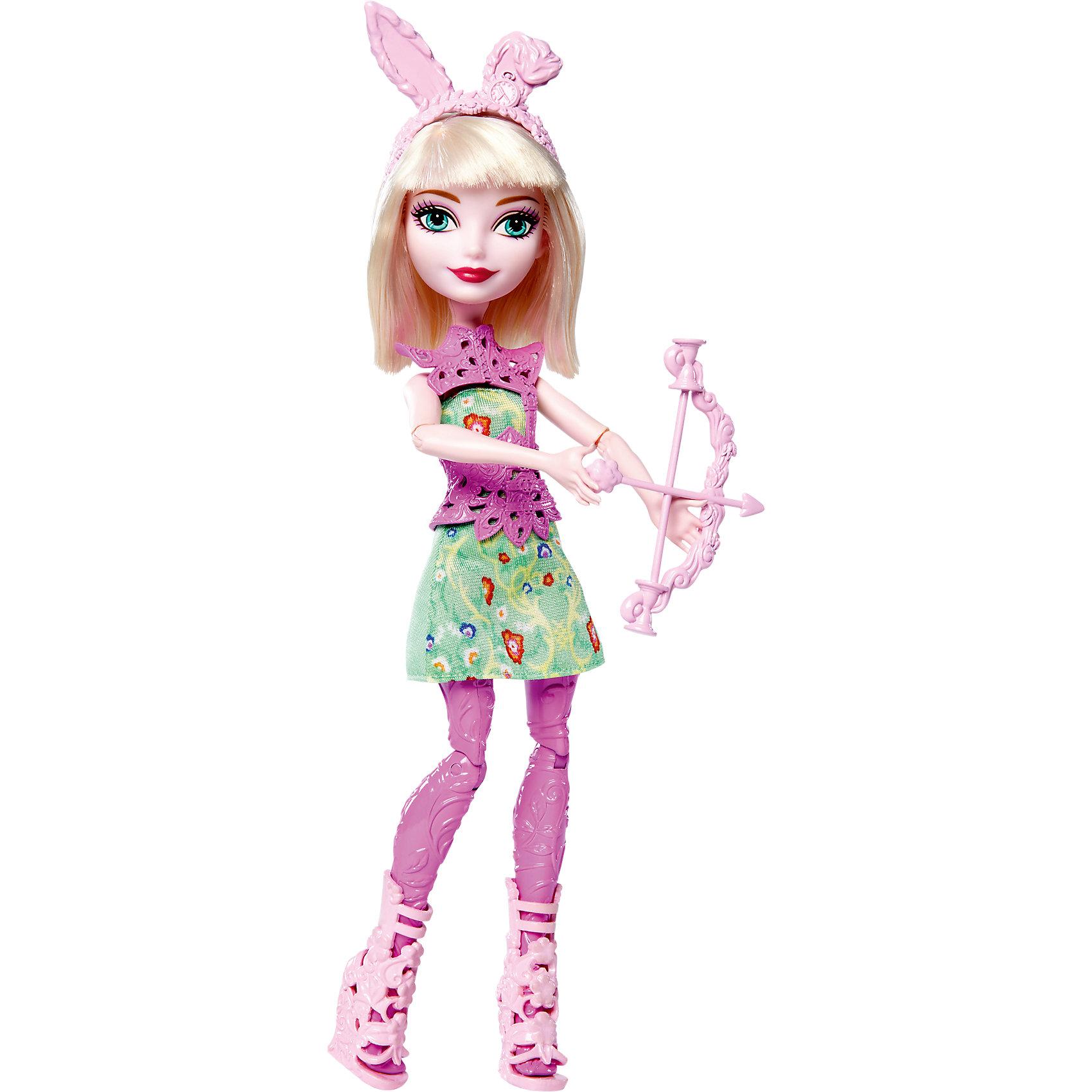 Кукла лучница Банни Бланк, Ever After HighEver After High<br>Кукла лучница Банни Бланк, Ever After High.<br><br>Характеристики:<br><br>• В комплекте: кукла-лучница Ever After High в модной одежде и аксессуарах, с луком и стрелой<br>• Высота куклы: 26 см.<br>• Материал: пластик<br>• Упаковка: блистер<br>• Размер упаковки: 33x26x5 см.<br><br>Придумывай невероятные сюжеты с куклой лучницей Банни Бланк из школы Ever After High, которая решила научиться стрельбе из лука! Кукла держит в руках очаровательный лук со стрелой. Банни Бланк одета в платье с цветочным узором. <br><br>Дополняют наряд потрясающие босоножки, стильный защитный жилет и ободок с ушками. Ножки куклы сделаны из пластика сиреневого цвета с фактурой, имитирующей ткань леггинсов. У куклы светлые волосы, большие выразительные глаза и милая улыбка. Руки и ноги подвижны: сгибаются колени, локти и кисти.<br><br>Куклу лучницу Банни Бланк, Ever After High можно купить в нашем интернет-магазине.<br><br>Ширина мм: 328<br>Глубина мм: 155<br>Высота мм: 50<br>Вес г: 167<br>Возраст от месяцев: 72<br>Возраст до месяцев: 120<br>Пол: Женский<br>Возраст: Детский<br>SKU: 5257101
